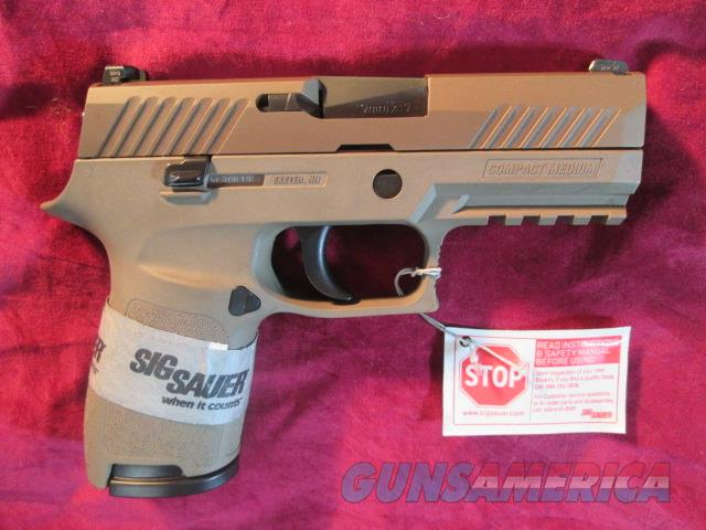 SIG SAUER P320 FDE 9MM W/ NIGHT SIGHTS NEW   (320C-9-FDE)  Guns > Pistols > Sig - Sauer/Sigarms Pistols > P320