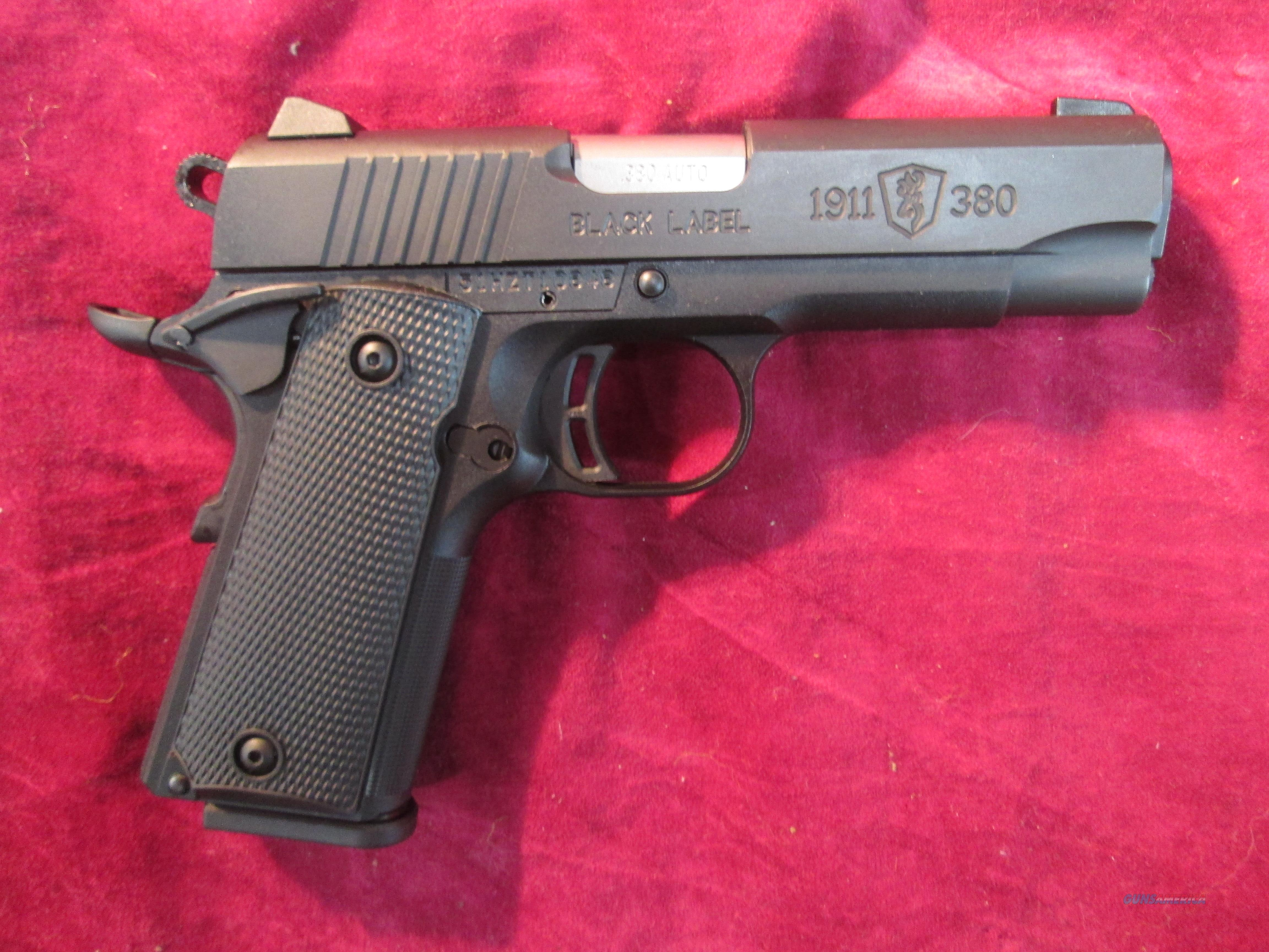 "BROWNING BLACK LABEL 3.6"" COMPACT .380 ACP NEW (051905492)    Guns > Pistols > Browning Pistols > Other Autos"