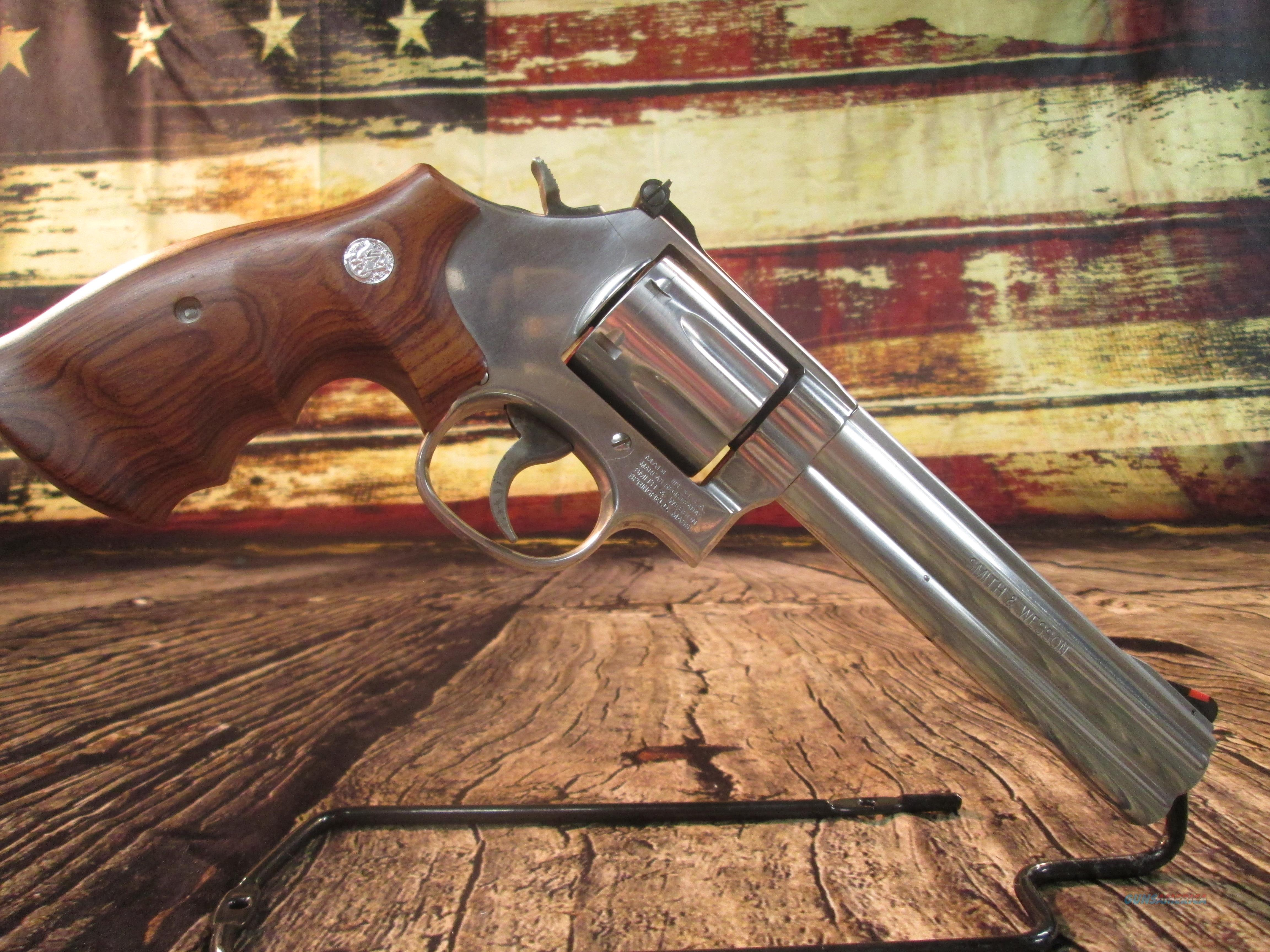 "S&W 686-6 PLUS 357 MAG 6"" BARREL USED (62460)   Guns > Pistols > Smith & Wesson Revolvers > Med. Frame ( K/L )"
