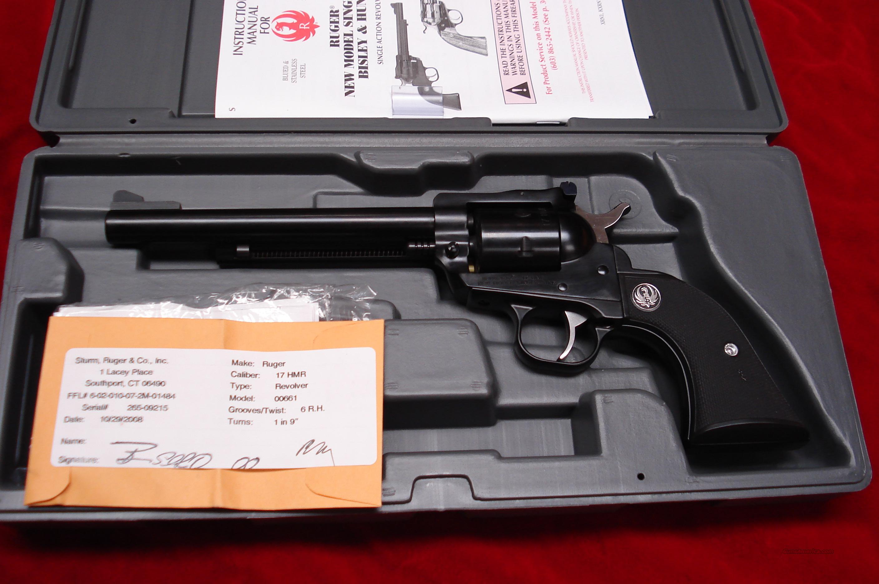 "RUGER .17HMR SINGLE-SIX 6.5""  NEW  Guns > Pistols > Ruger Single Action Revolvers > Single Six Type"