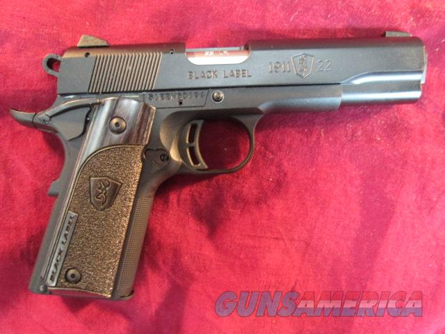 "BROWNING BLACK LABEL 1911 22LR CAL 4.25"" BARREL NEW   (051814490)  Guns > Pistols > Browning Pistols > Other Autos"