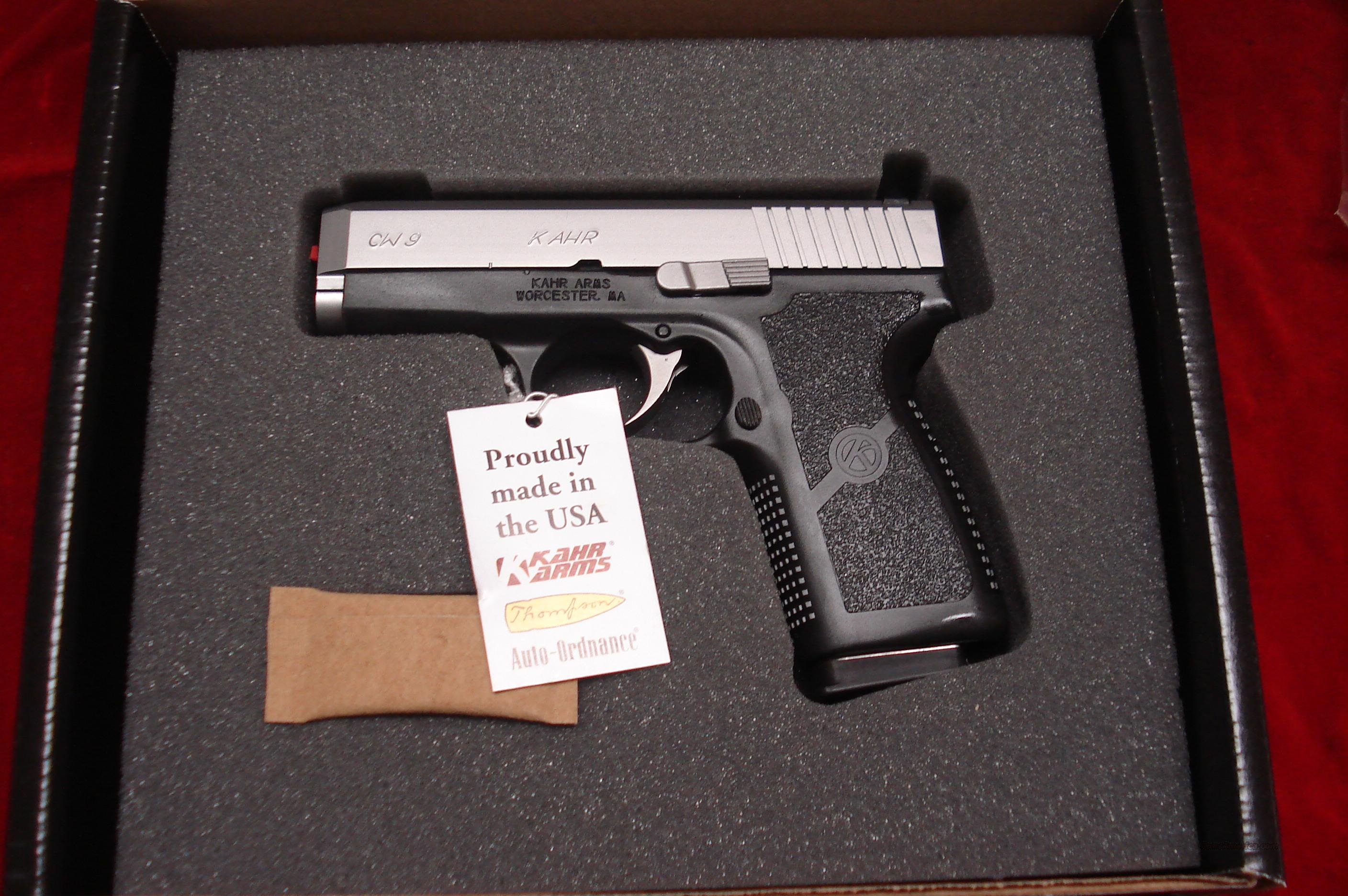 KAHR ARMS CW9 9MM STAINLESS NEW  (CW9093)   Guns > Pistols > Kahr Pistols