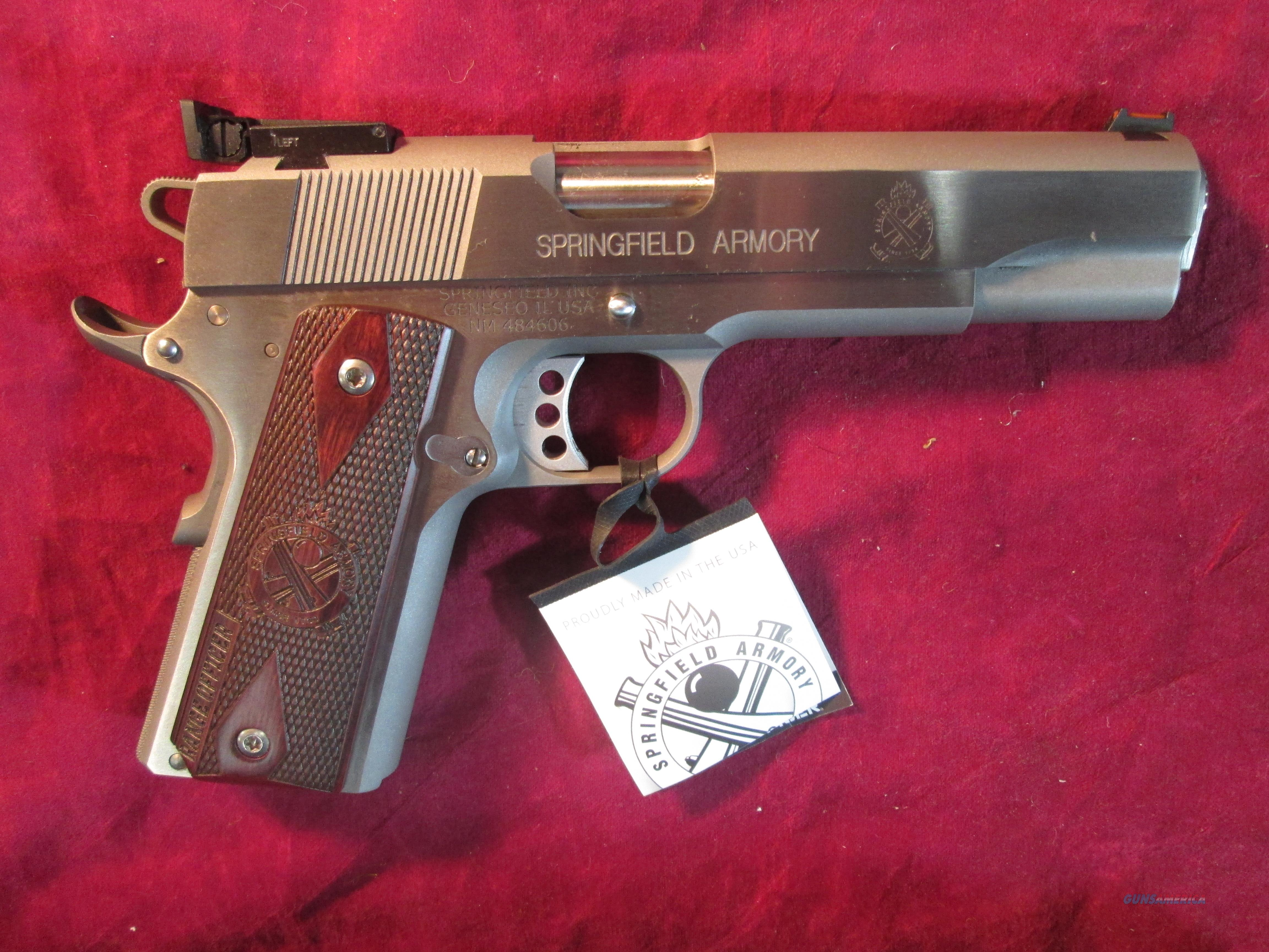 SPRINGFIELD ARMORY STAINLESS RANGE OFFICER 1911 45ACP W/ ADJUSTABLE SIGHTS NEW (PI9124L)    Guns > Pistols > Springfield Armory Pistols > 1911 Type