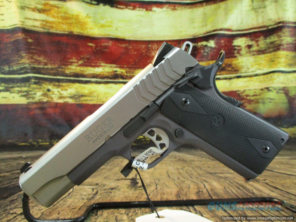 "Ruger 9MM SR 1911 Lightweight Commander Stainless 4.25"" New (06722)  Guns > Pistols > Ruger Semi-Auto Pistols > 1911"