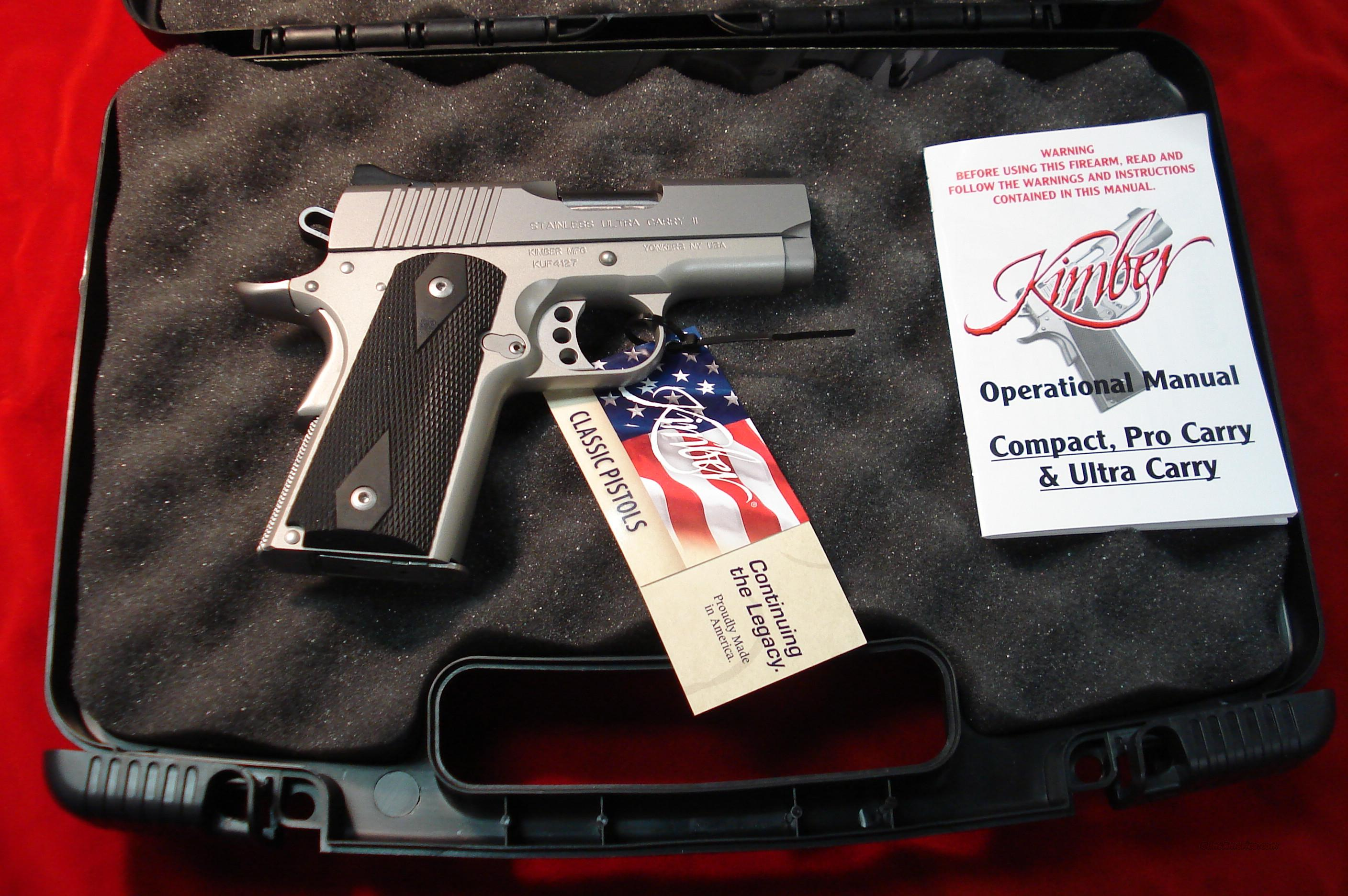 KIMBER STAINLESS ULTRA CARRY II 9MM  NEW   Guns > Pistols > Kimber of America Pistols