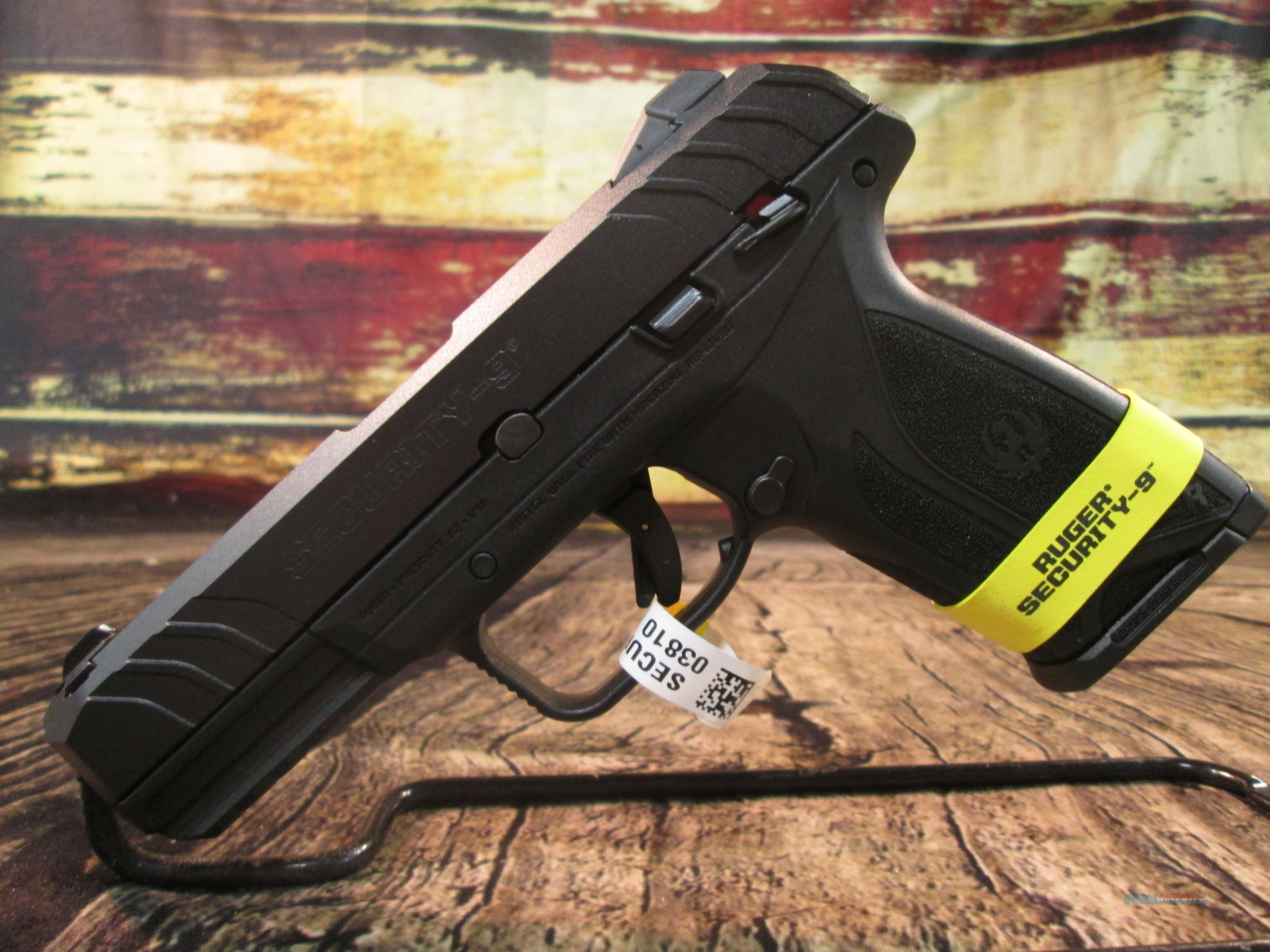 RUGER SECURITY-9 9MM NEW (3810)  Guns > Pistols > Ruger Semi-Auto Pistols > Security 9