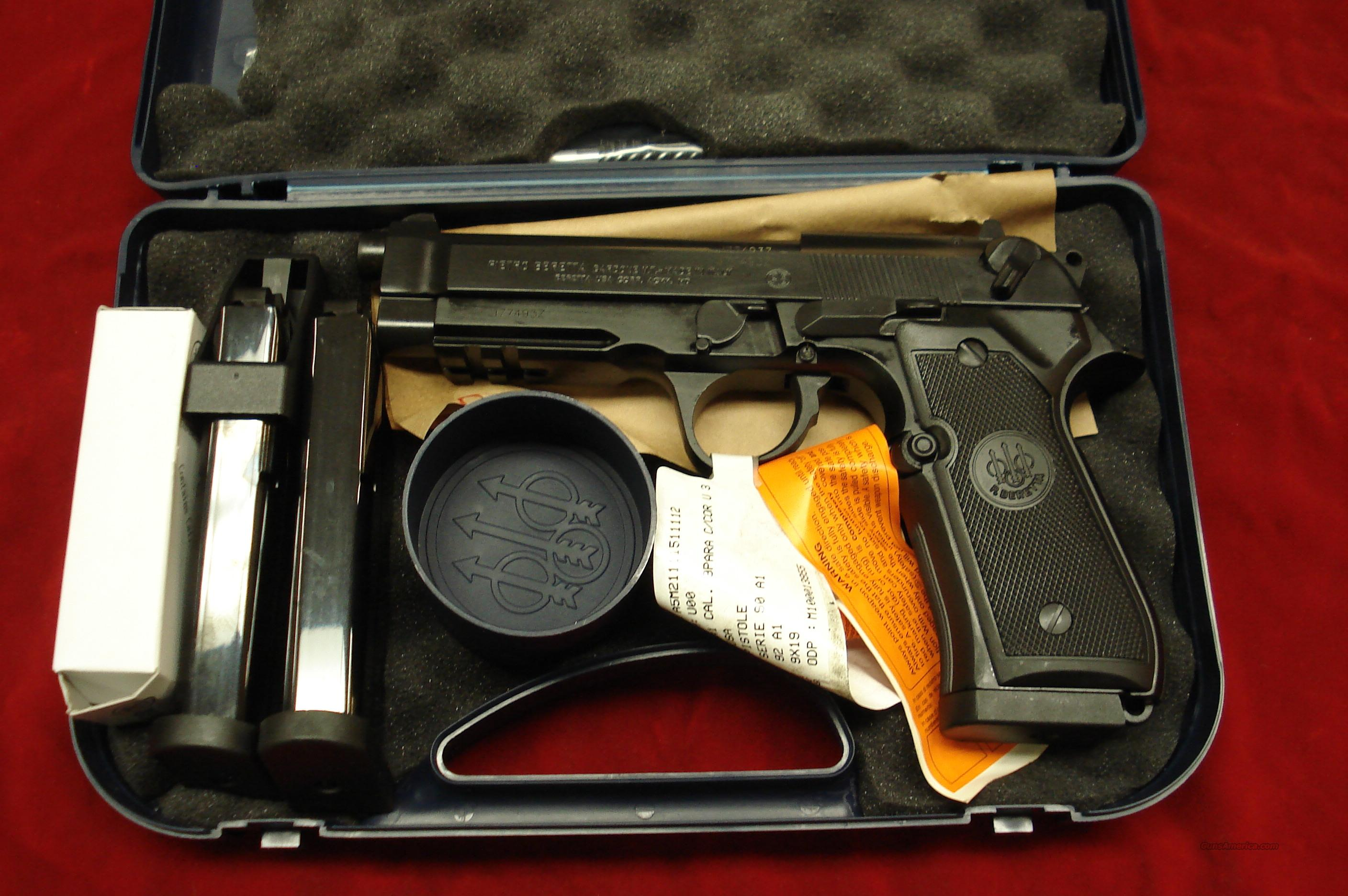 BERETTA 92A1 9MM CAL. NEW  (J9A9F10)  Guns > Pistols > Beretta Pistols > Model 92 Series
