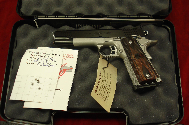 KIMBER RIMFIRE SUPER CUSTOM SHOP 22CAL 1911 NEW  Guns > Pistols > Kimber of America Pistols
