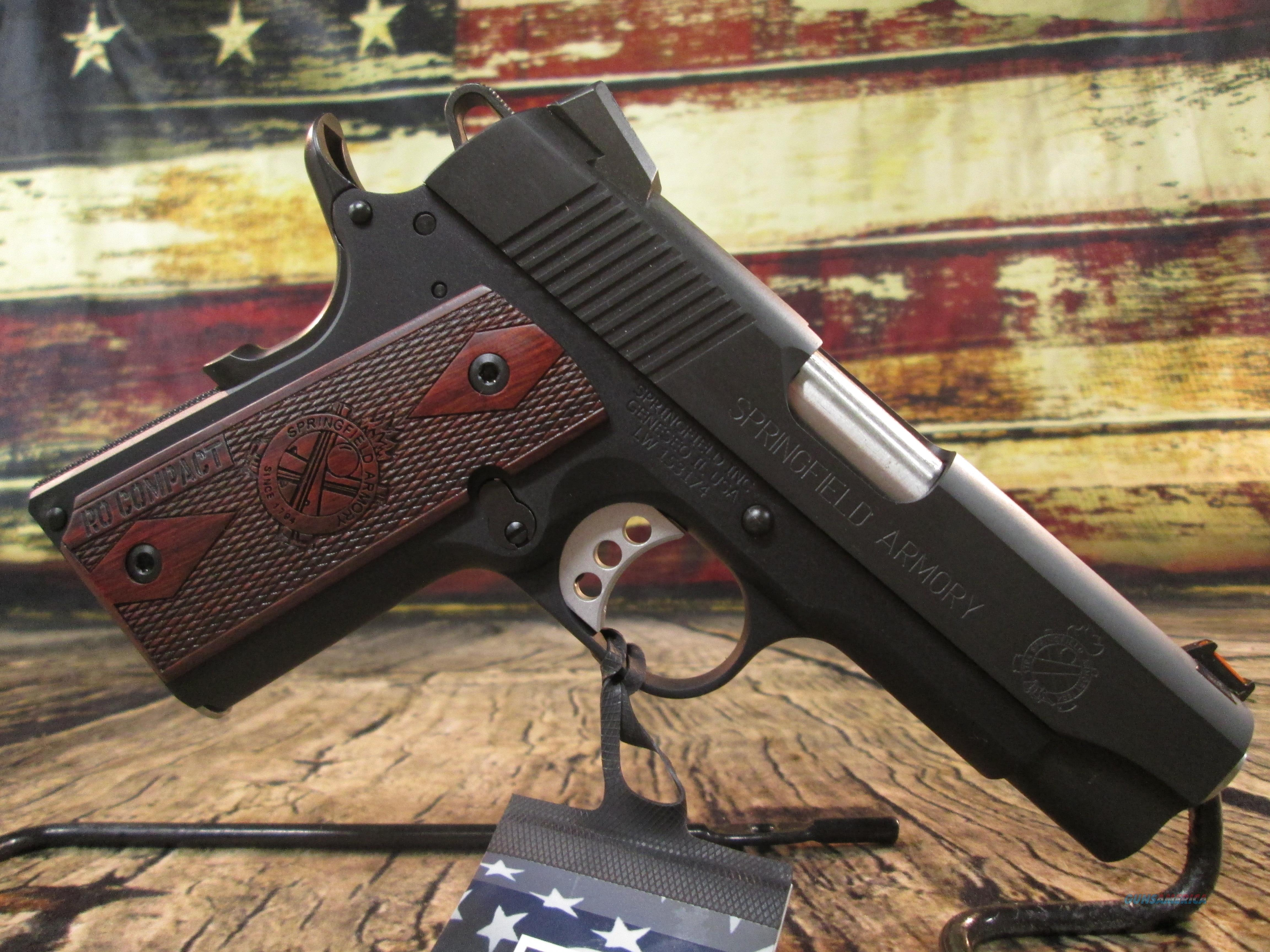 "Springfield Armory 9MM 1911 Lightweight Compact Range Officer 4"" New ( PI9125LP)  Guns > Pistols > Springfield Armory Pistols > 1911 Type"