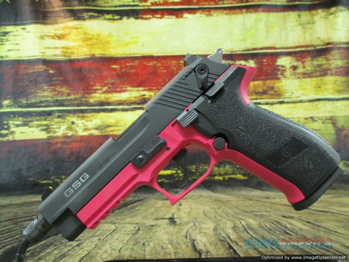 "GSG FireFly Threaded 22 LR 4.9"" 10+1 Pink Zinc Alloy New (GERG2210TFFP)   Guns > Pistols > American Tactical Imports Pistols"