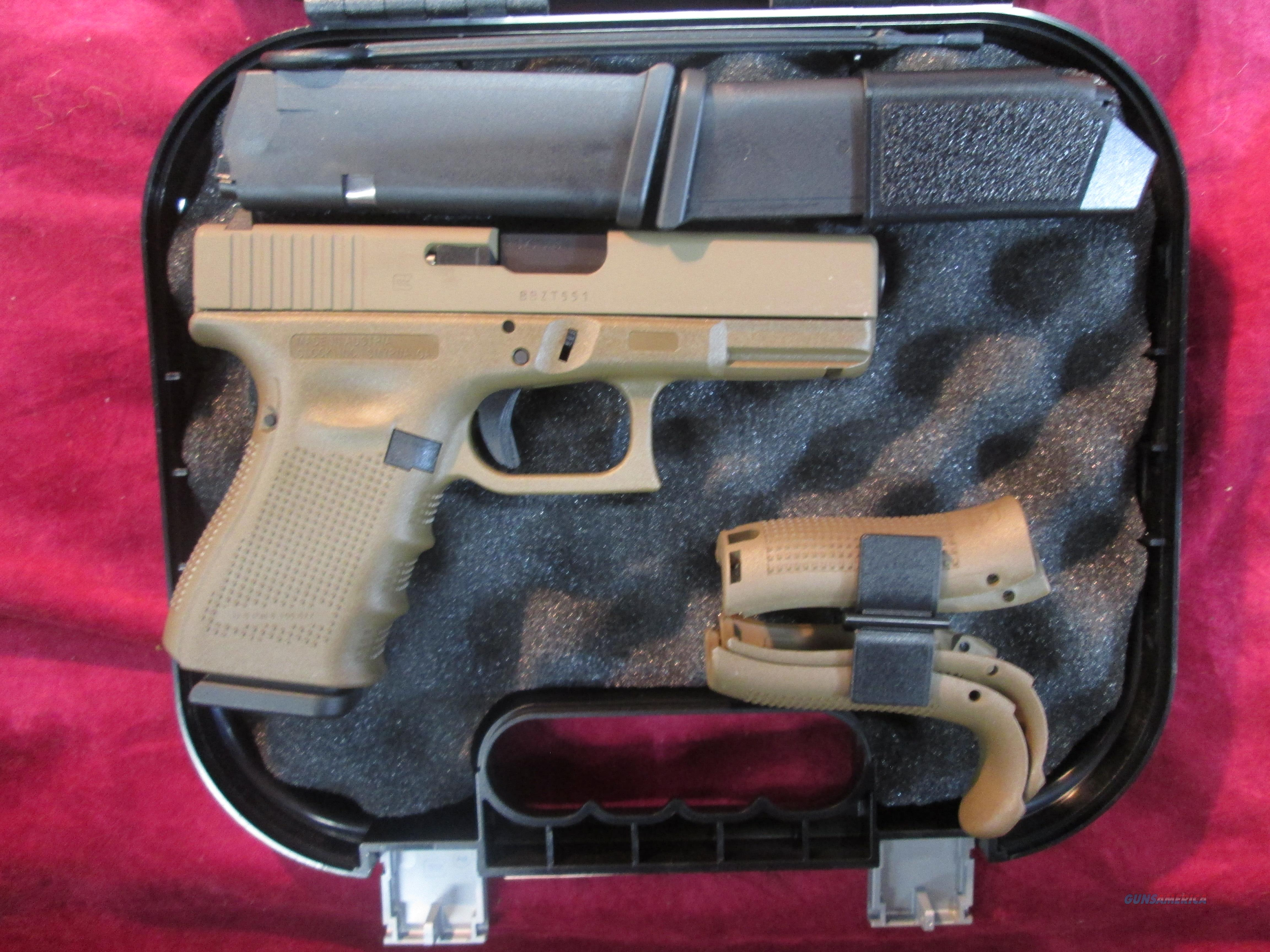 GLOCK 23 GEN 4 FULL FLAT DARK EARTH 40CAL NEW (PG2350204D)   Guns > Pistols > Glock Pistols > 23