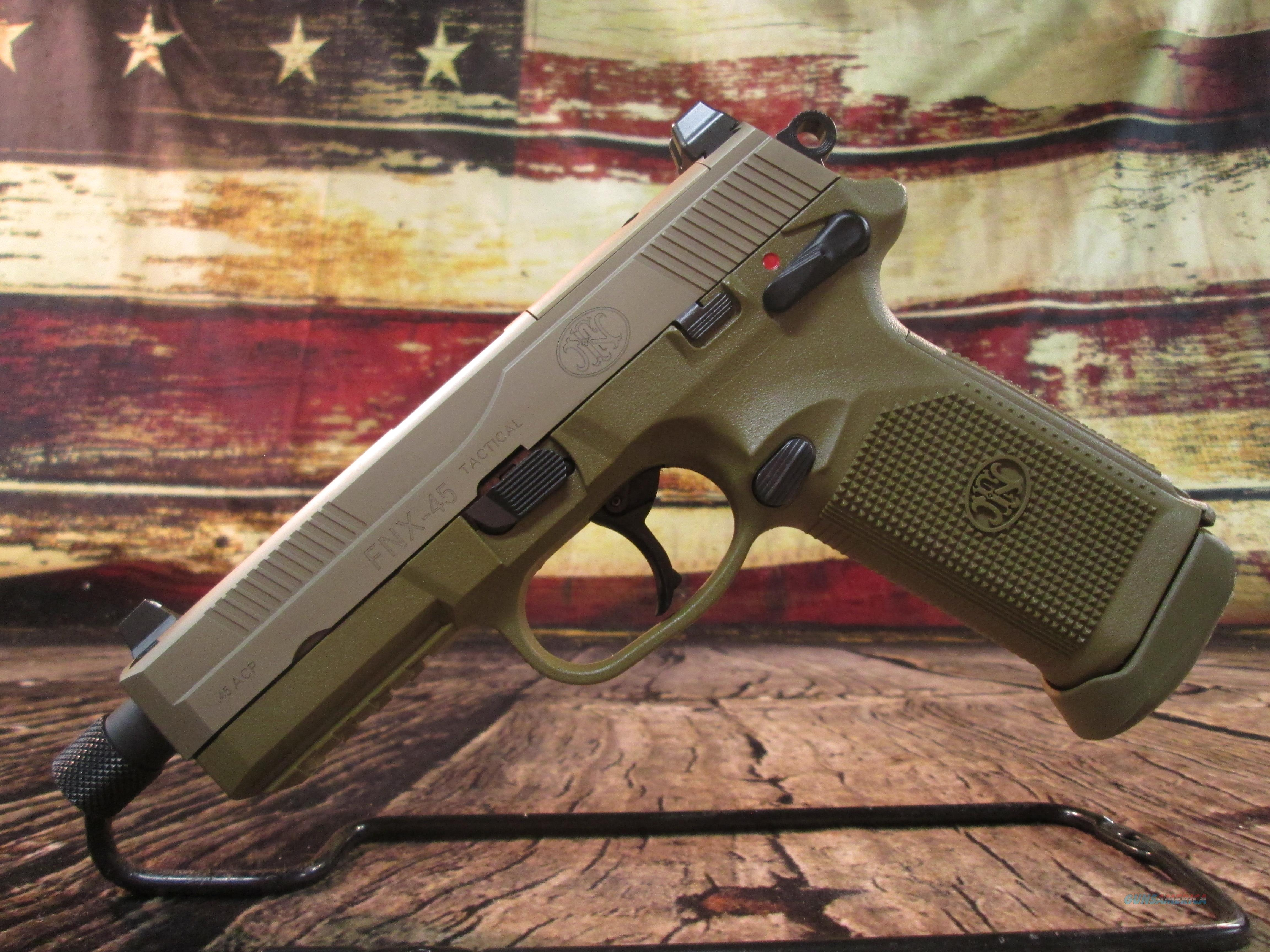 FN FNX-45 TACTICAL FLAT DARK EARTH USED (64477)  Guns > Pistols > FNH - Fabrique Nationale (FN) Pistols > FNX