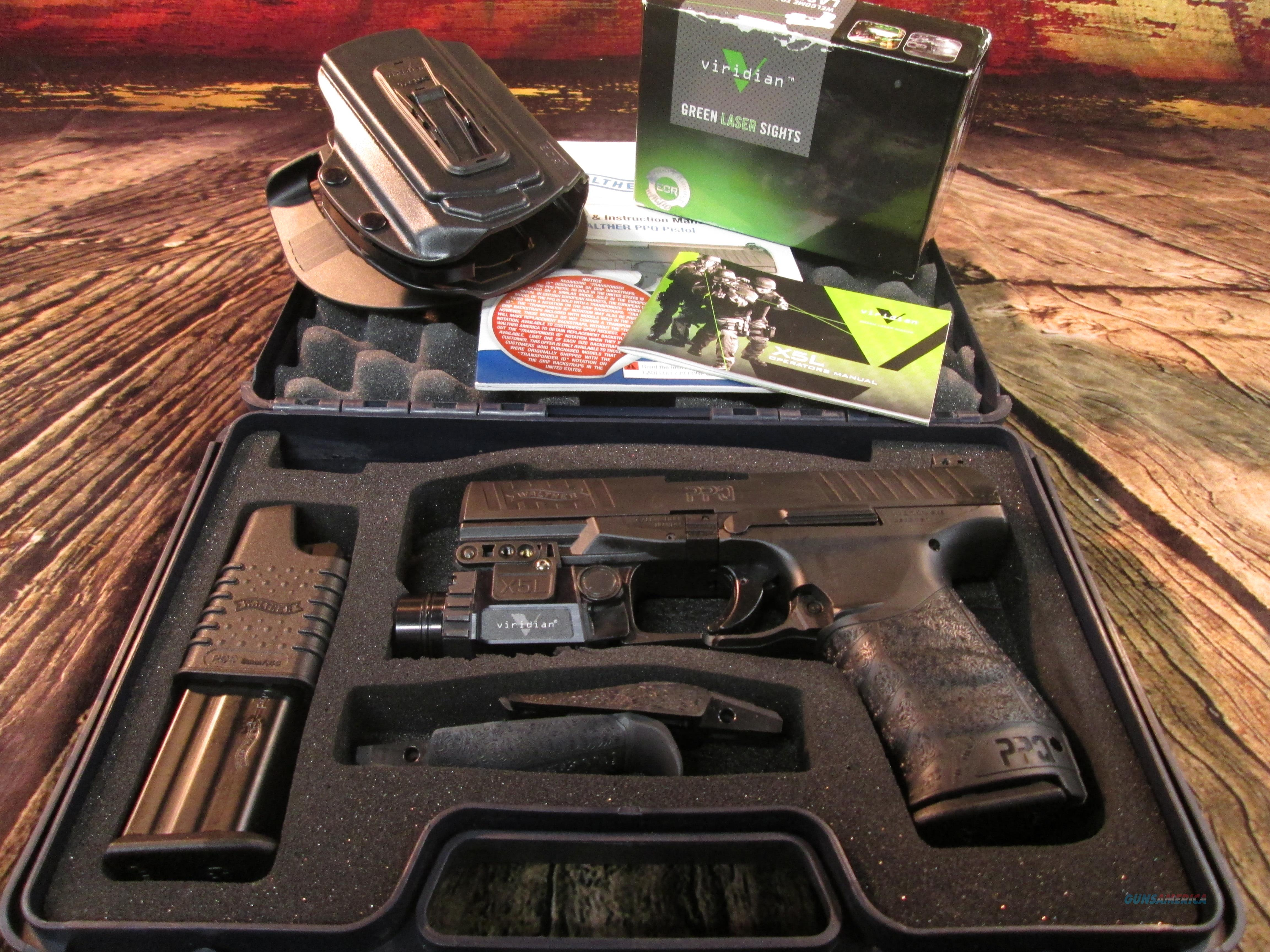 WALTHER PPQ WITH VIRIDIAN LASER/LIGHT & HOLSTER USED (62657)  Guns > Pistols > Walther Pistols > Post WWII > P99/PPQ