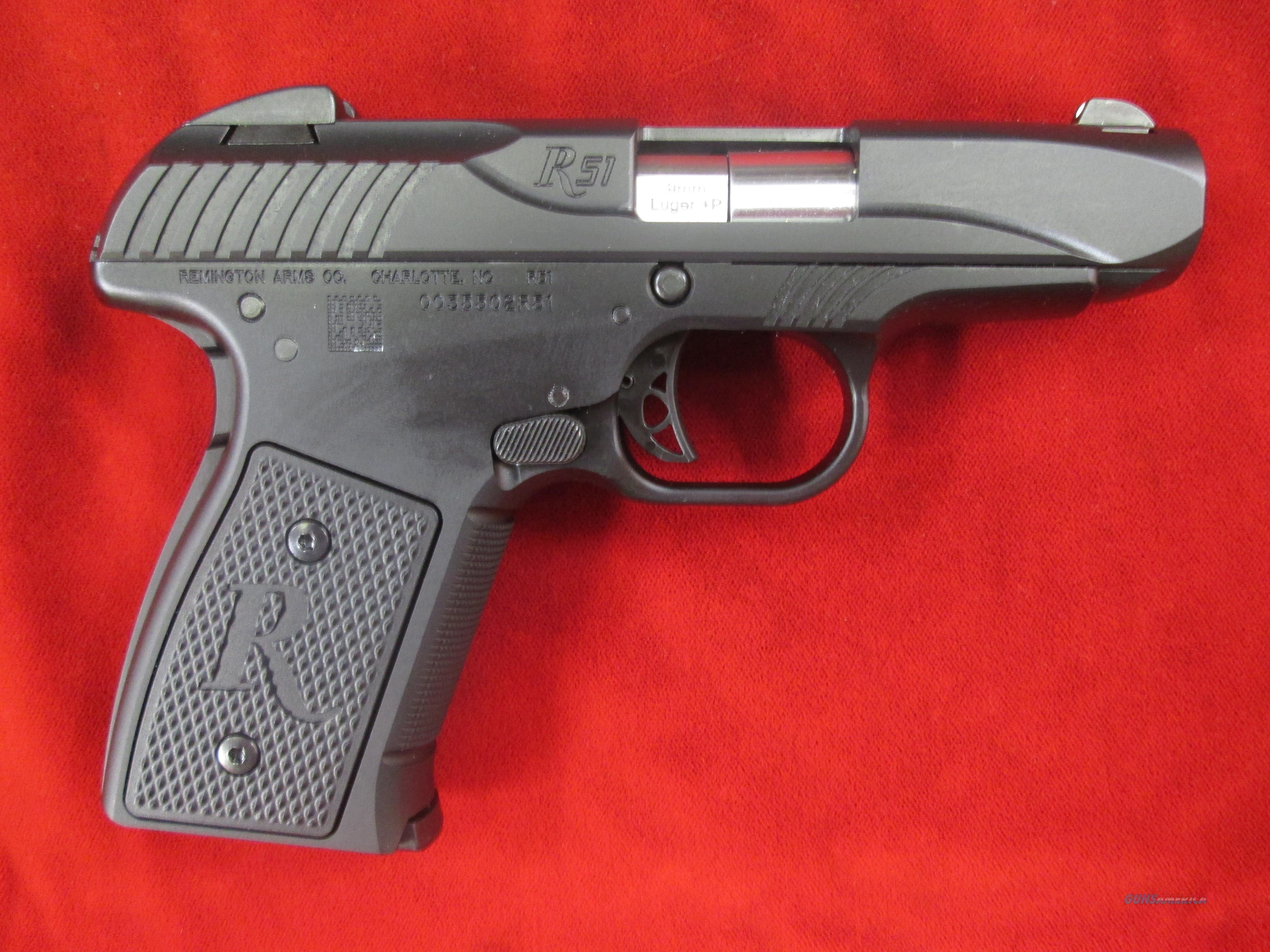 REMINGTON R-51 SEMI AUTO PISTOL 9MM+P RATED NEW   (96430)    Guns > Pistols > Remington Pistols - Modern > 1911