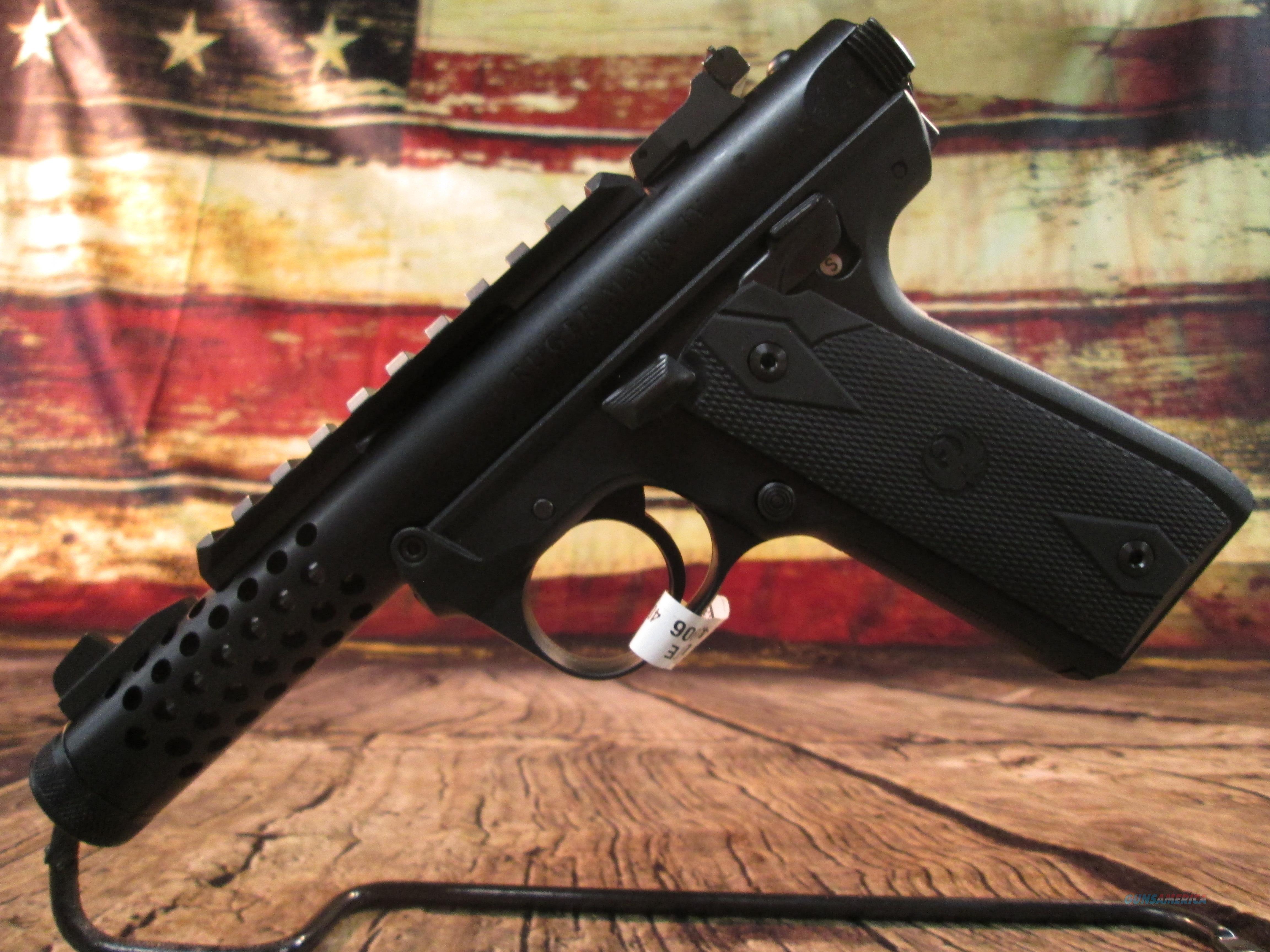 RUGER 22/45 LITE MKIV THREADED BLACK ANODIZED .22 LR  (43906)   Guns > Pistols > Ruger Semi-Auto Pistols > 22/45