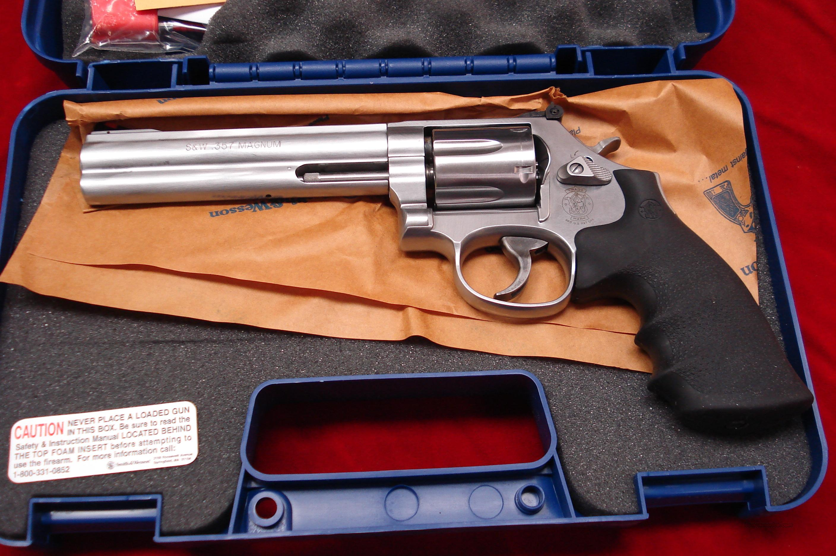 "SMITH AND WESSON MODEL 686  6"" 357MAG STAINLESS NEW  Guns > Pistols > Smith & Wesson Revolvers > Full Frame Revolver"