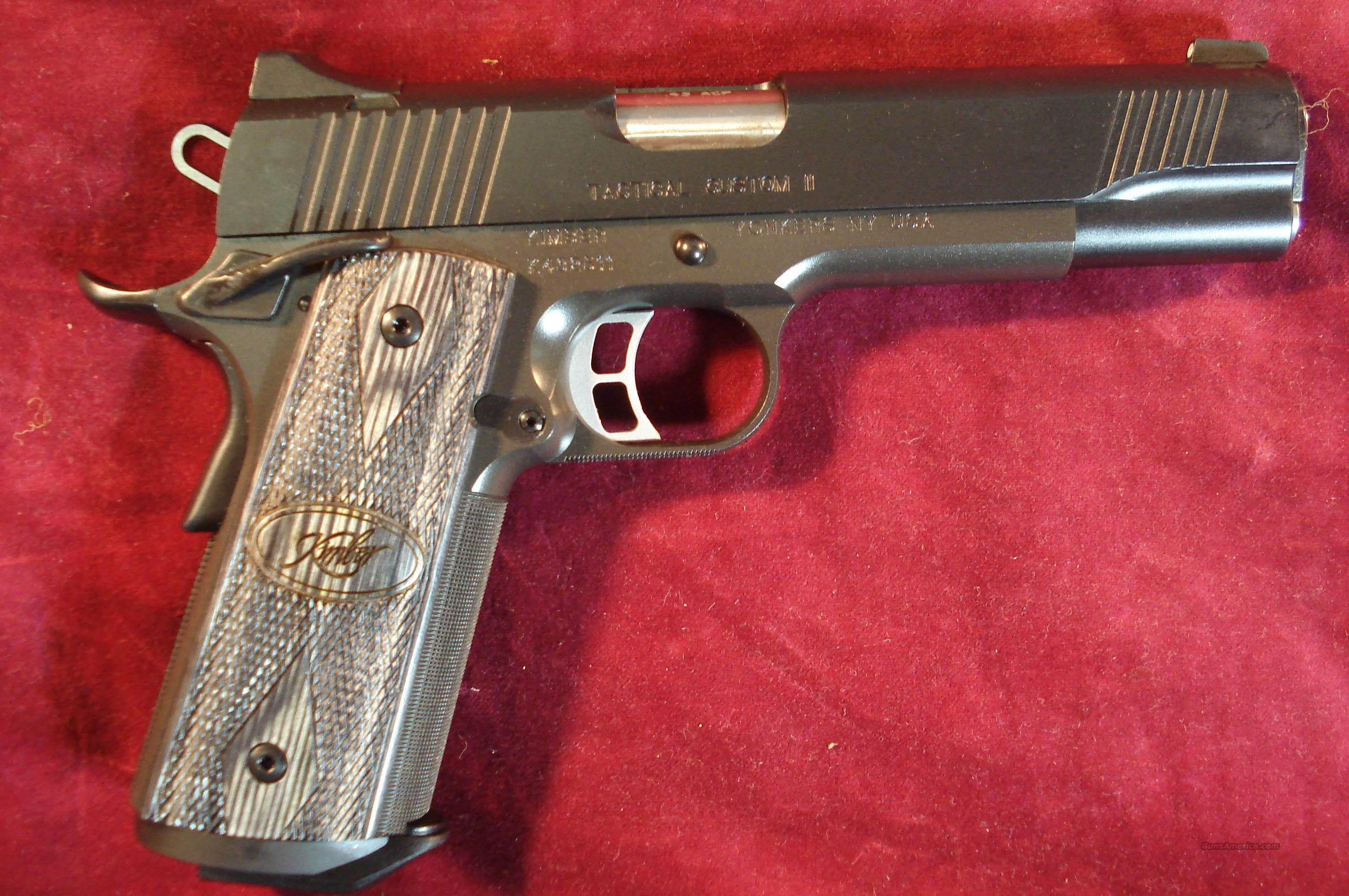 KIMBER TACTICAL CUSTOM  II 45ACP W/NIGHT SIGHTS NEW    (3200137)  Guns > Pistols > Kimber of America Pistols