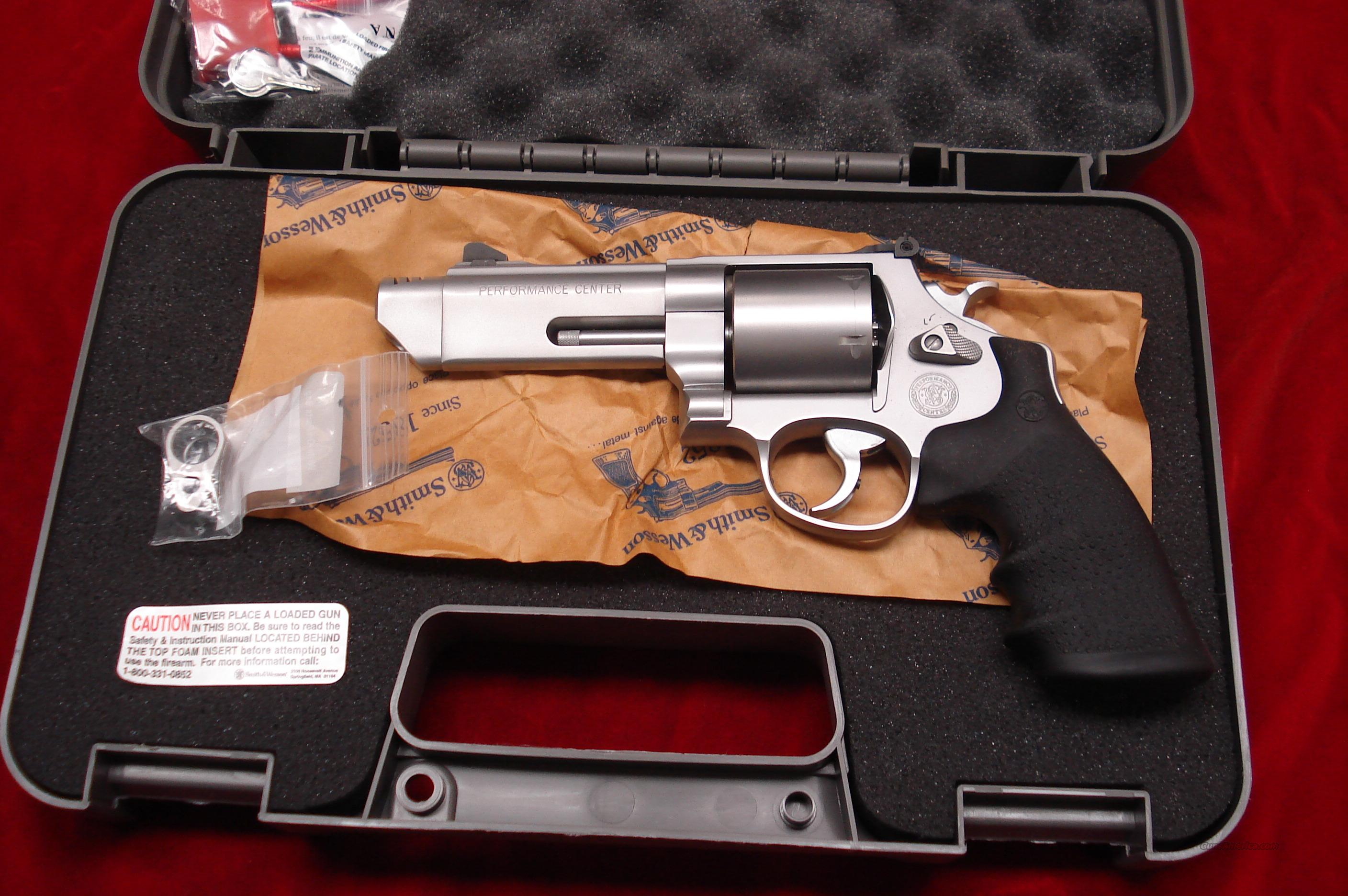 "SMITH AND WESSON PERFORMANCE CENTER MODEL 629 V-COMP 44 MAGNUM 4"" PORTED  STAINLESS NEW  (170137)   Guns > Pistols > Smith & Wesson Revolvers > Performance Center"