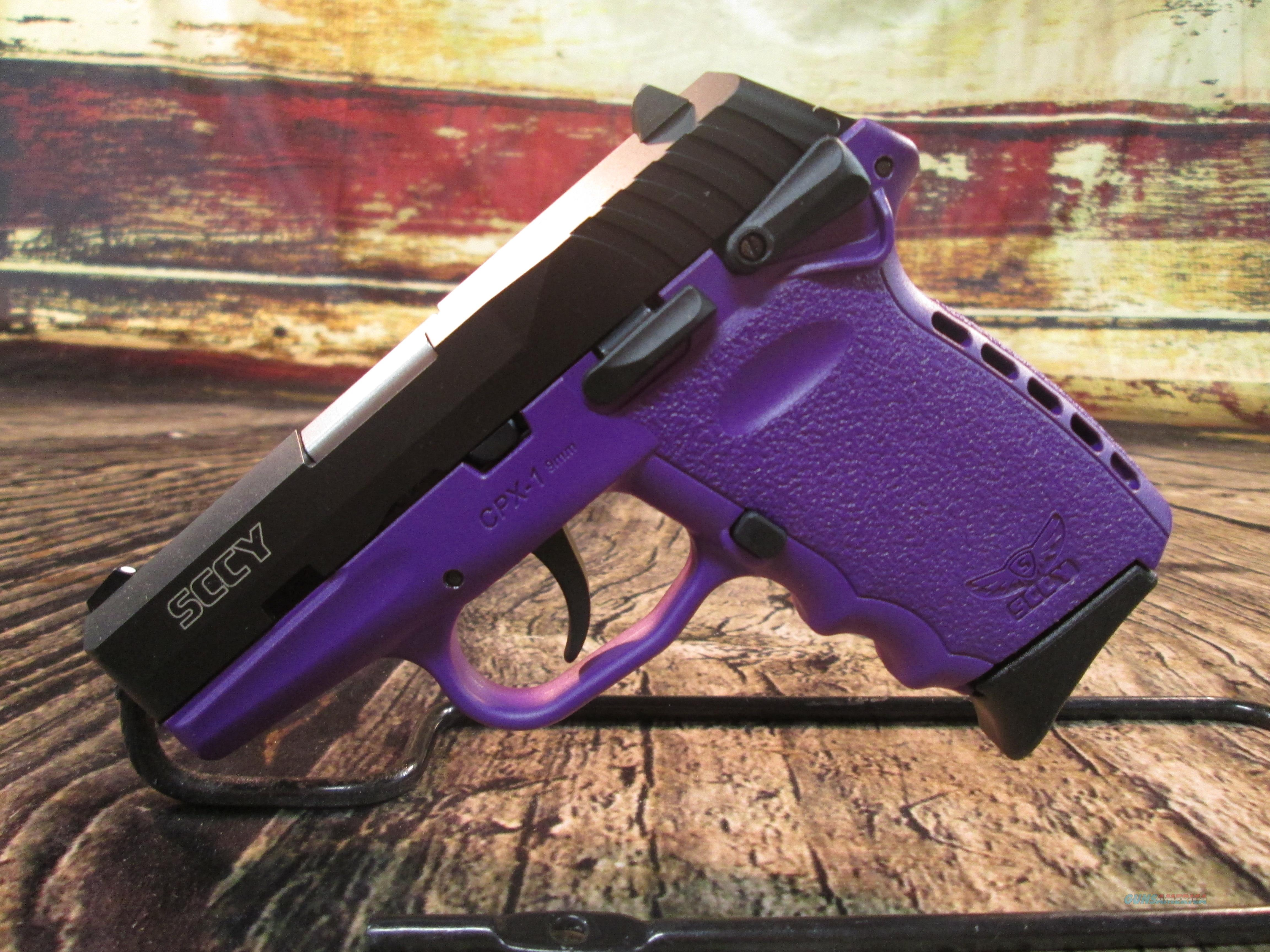 SCCY CPX-1 PURPLE NEW **Factory Rebate Offer** (CPX1CBPU)  Guns > Pistols > SCCY Pistols > CPX1