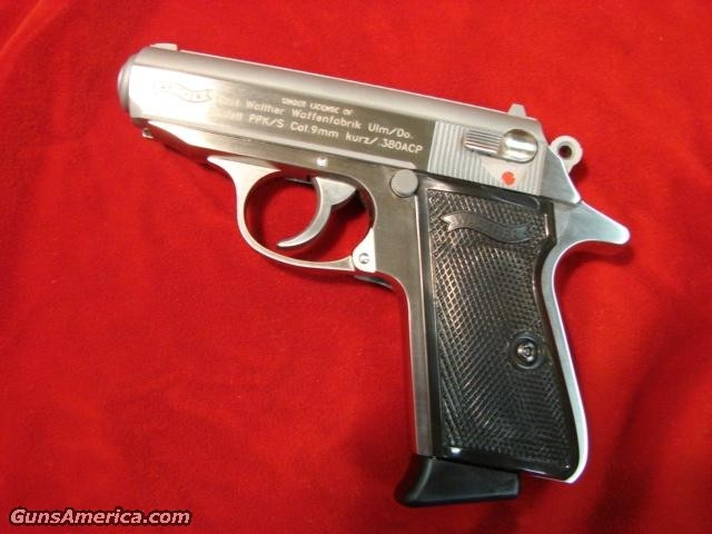WALTHER PPK/S 380 CAL. STAINLESS NEW  **{{ REBATE }}**  Guns > Pistols > Walther Pistols > Post WWII > PP Series