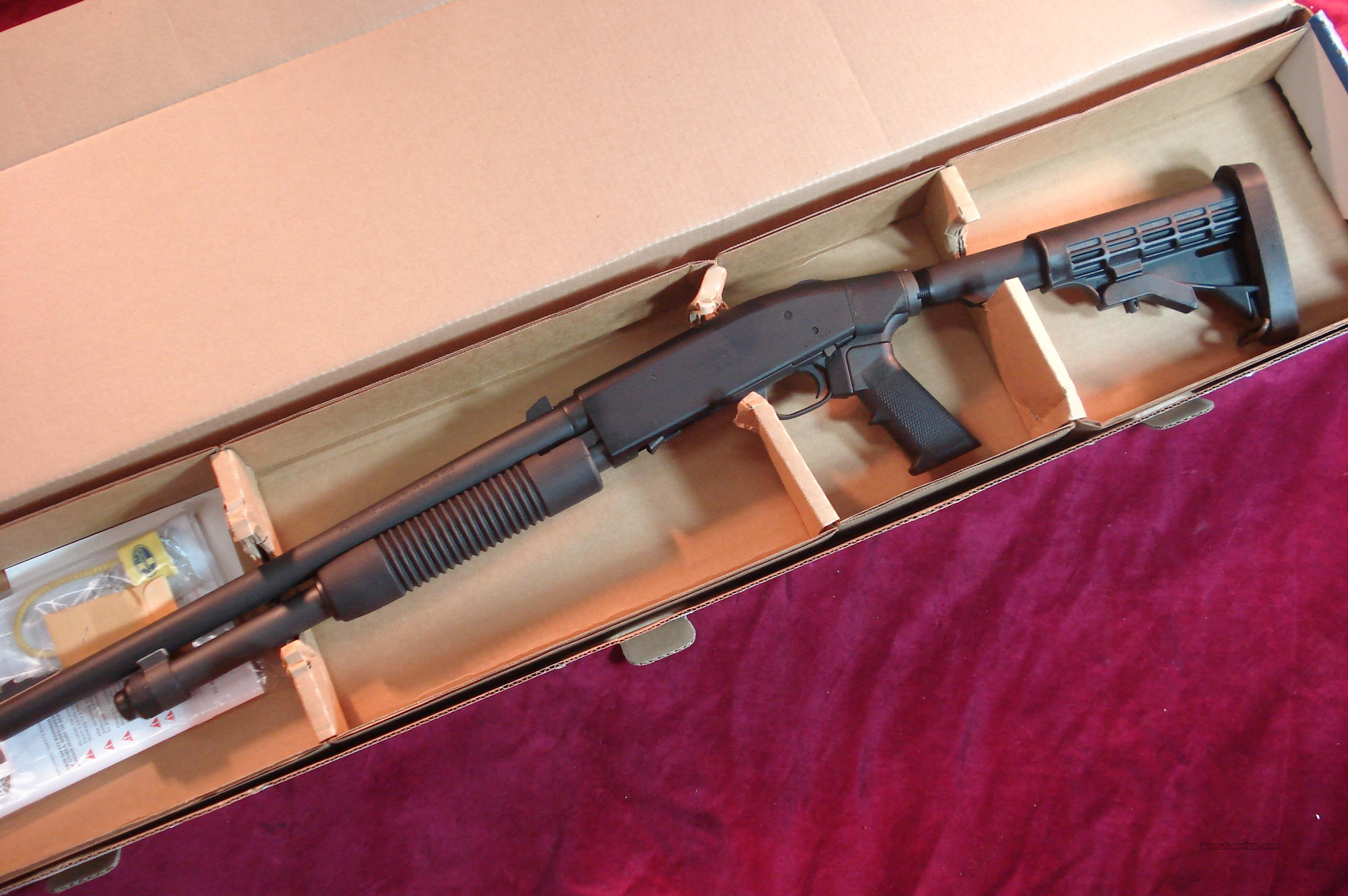 MOSSBERG 590A1 TACTICAL 12G PARKERIZED WITH THREE DOT SIGHTS NEW  Guns > Shotguns > Mossberg Shotguns > Pump > Tactical