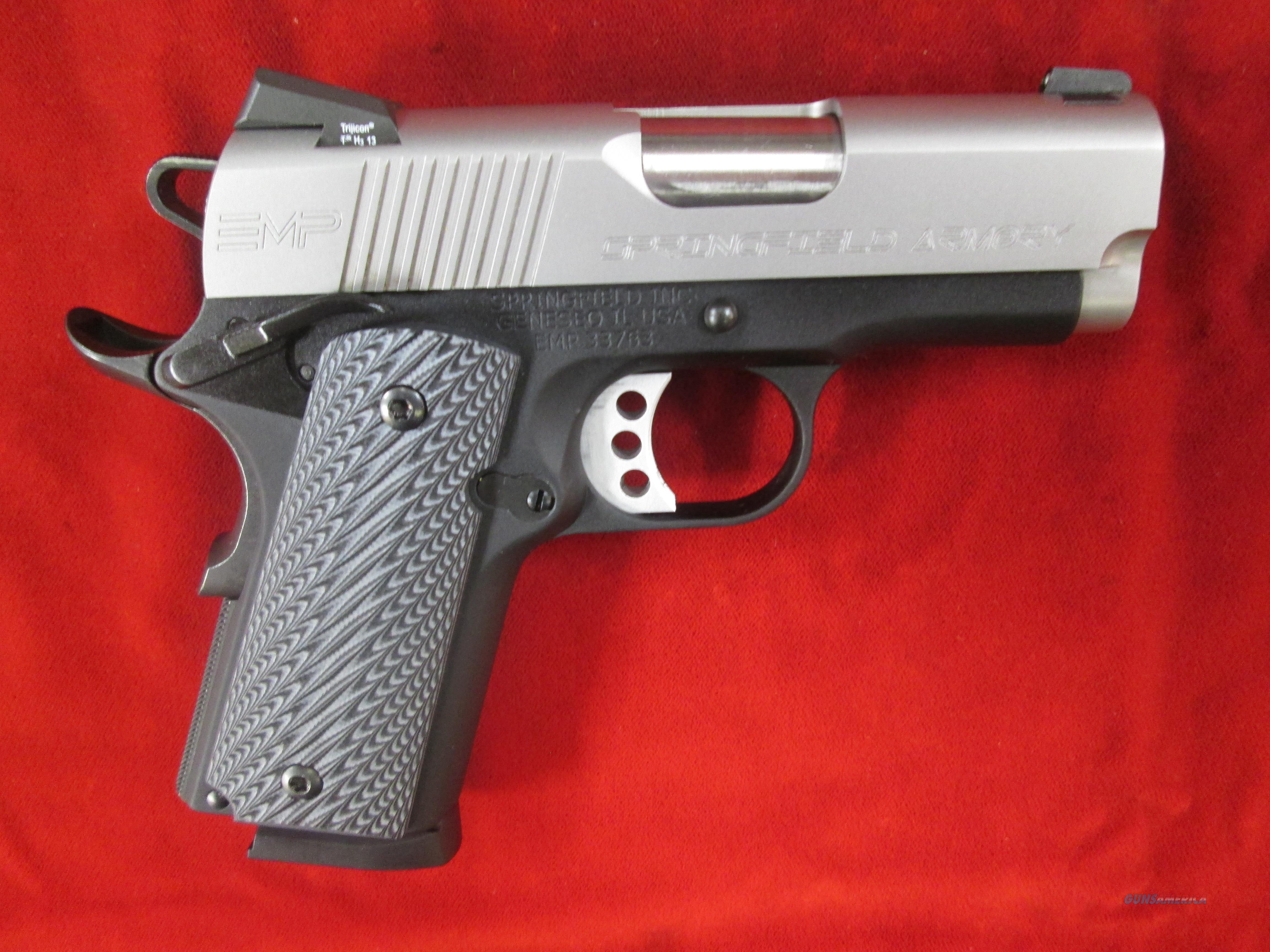 SPRINGFIELD ARMORY EMP MICRO-COMP. 9MM WITH G10 GRIPS (PI9210LP) USED  Guns > Pistols > Springfield Armory Pistols > 1911 Type