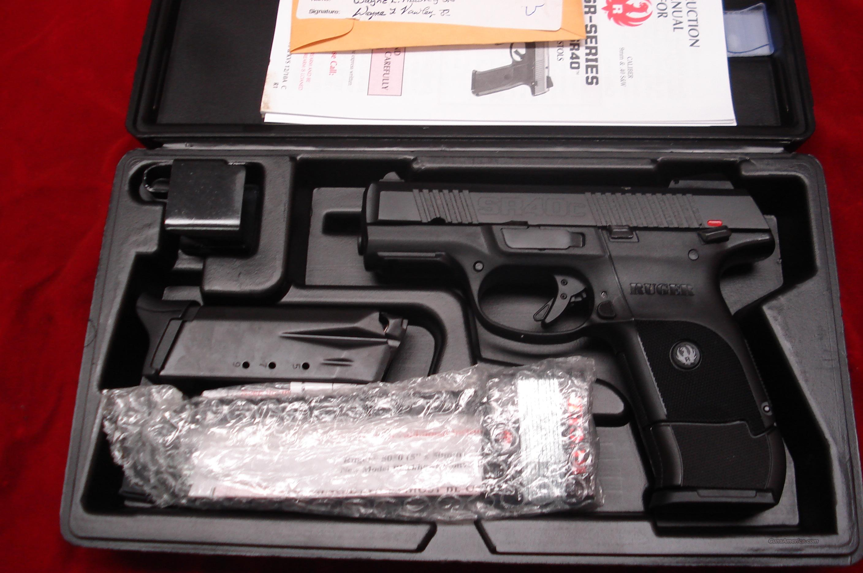 RUGER SR40C (COMPACT) BLACK NEW (IN STOCK)! (BSR40C)  Guns > Pistols > Ruger Semi-Auto Pistols > SR9