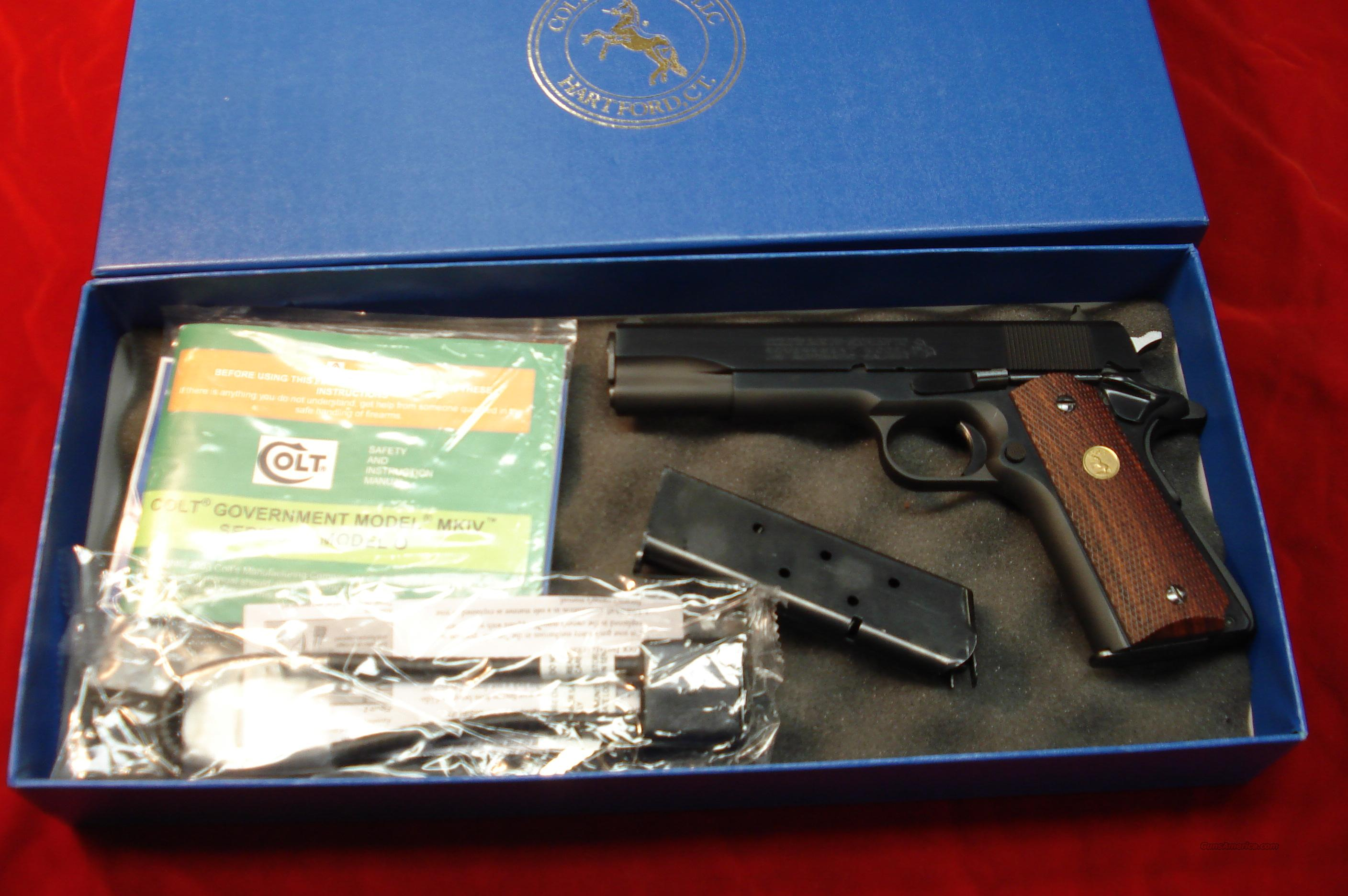 COLT GOVT MODEL BLUED SERIES 70 LNIB  Guns > Pistols > Colt Automatic Pistols (1911 & Var)