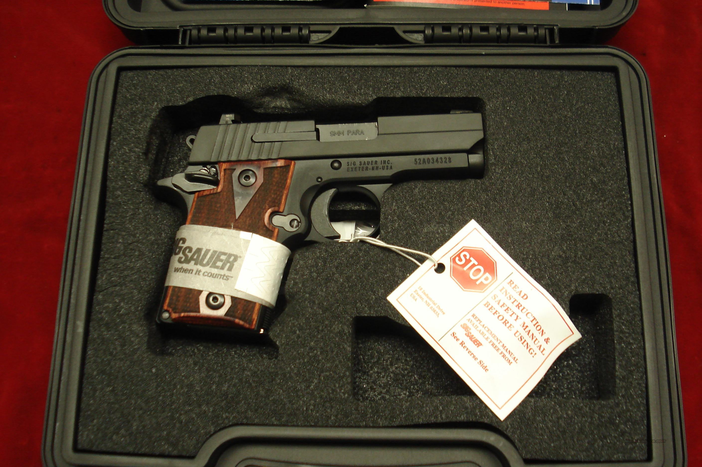 SIG SAUER 938  9MM W/NIGHT SIGHTS NEW  (938-9-RG-AMBI)   Guns > Pistols > Sig - Sauer/Sigarms Pistols > Other