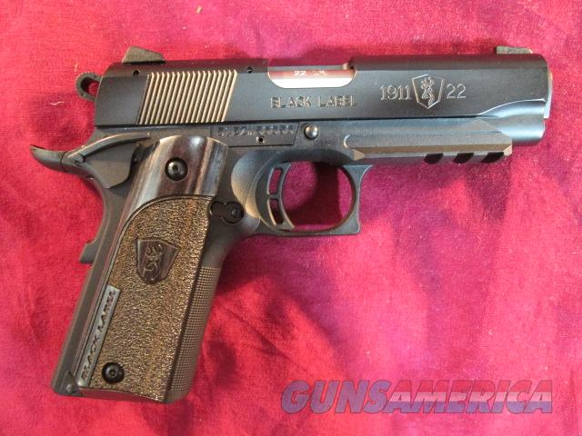 BROWNING BLACK LABEL COMPACT W/ RAIL 1911 22LR NEW  (051817490)   Guns > Pistols > Browning Pistols > Other Autos