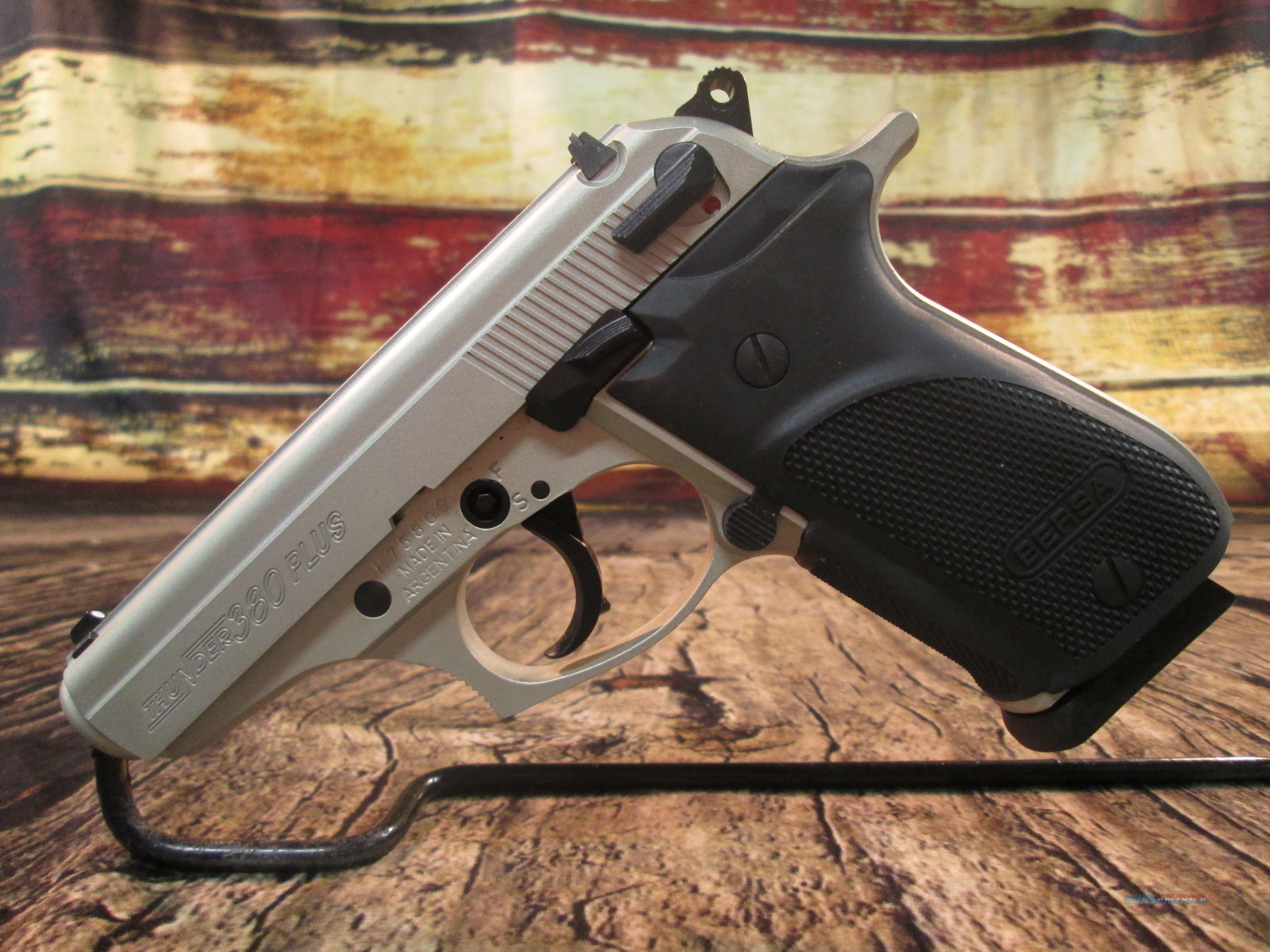 BERSA THUNDER PLUS 380ACP NICKEL NEW (THUN380PNKL15)  Guns > Pistols > Bersa Pistols