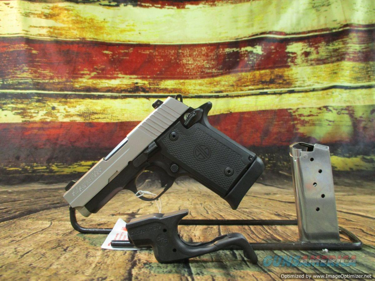 Sig Sauer 9MM P938 Stainless W/ Crimson Trace New (938-9-TSS-BRG-CTC-AMBI)  Guns > Pistols > Sig - Sauer/Sigarms Pistols > P938