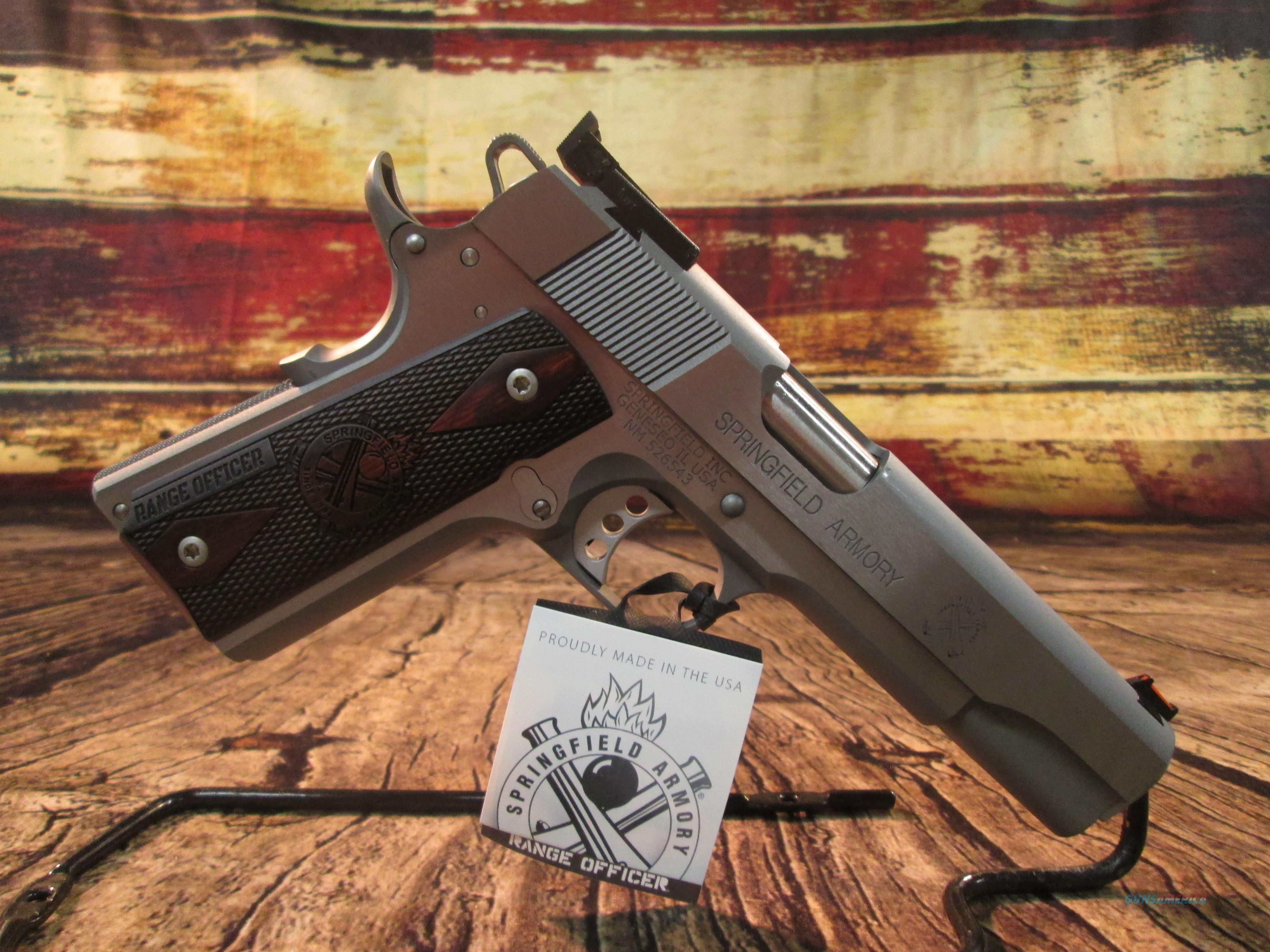 SPRINGFIELD ARMORY SS RANGE OFFICER 9MM W/ TARGET SIGHTS NEW (PI9122L)  Guns > Pistols > Springfield Armory Pistols > 1911 Type
