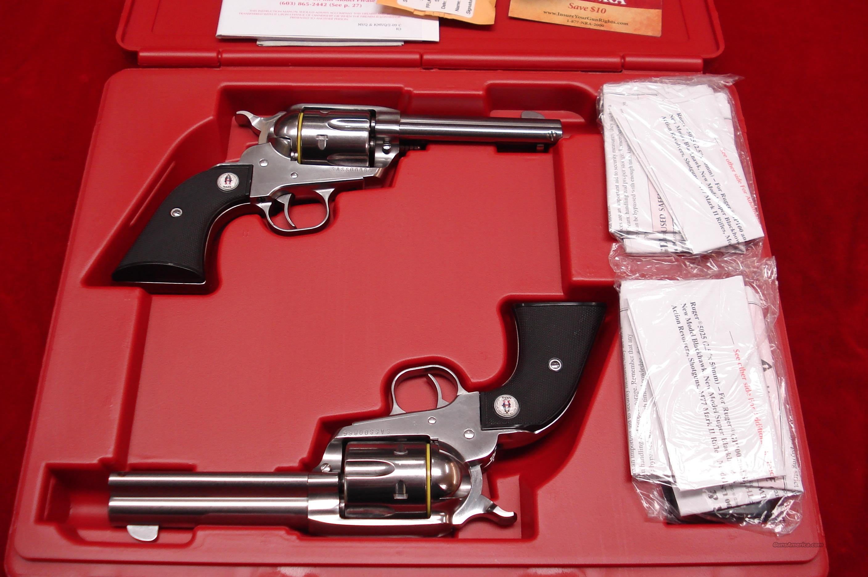 RUGER SASS VAQUERO MATCHED SET POLISHED STAINLESS 357CAL. NEW (05133)  Guns > Pistols > Ruger Single Action Revolvers > Cowboy Action