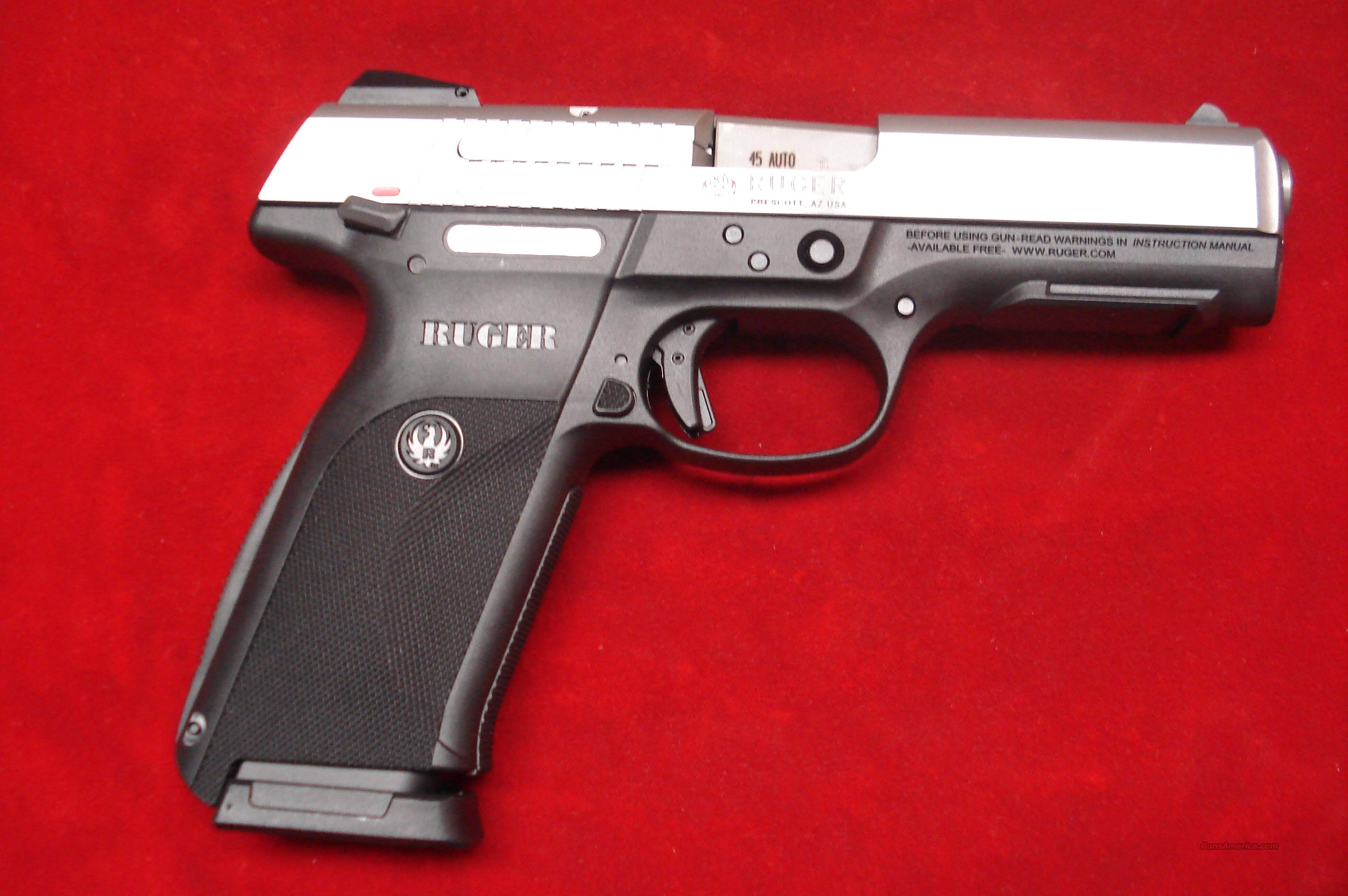 RUGER SR45 STAINLESS NEW (IN STOCK)! (kSR45)   (03801)  Guns > Pistols > Ruger Semi-Auto Pistols > SR Family > SR45
