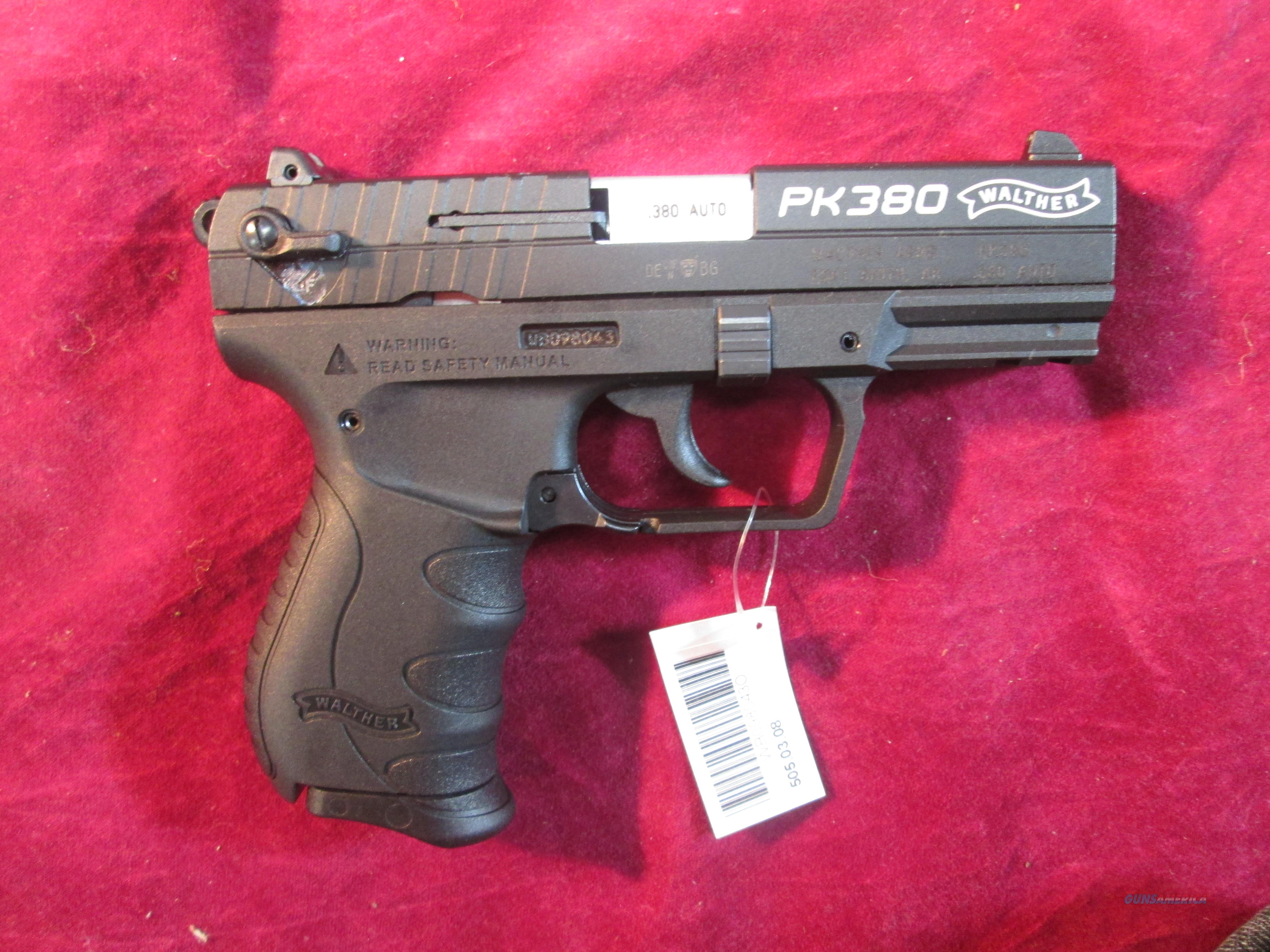 WALTHER PK380 BLACK NEW (5050308)   Guns > Pistols > Walther Pistols > Post WWII > PK380