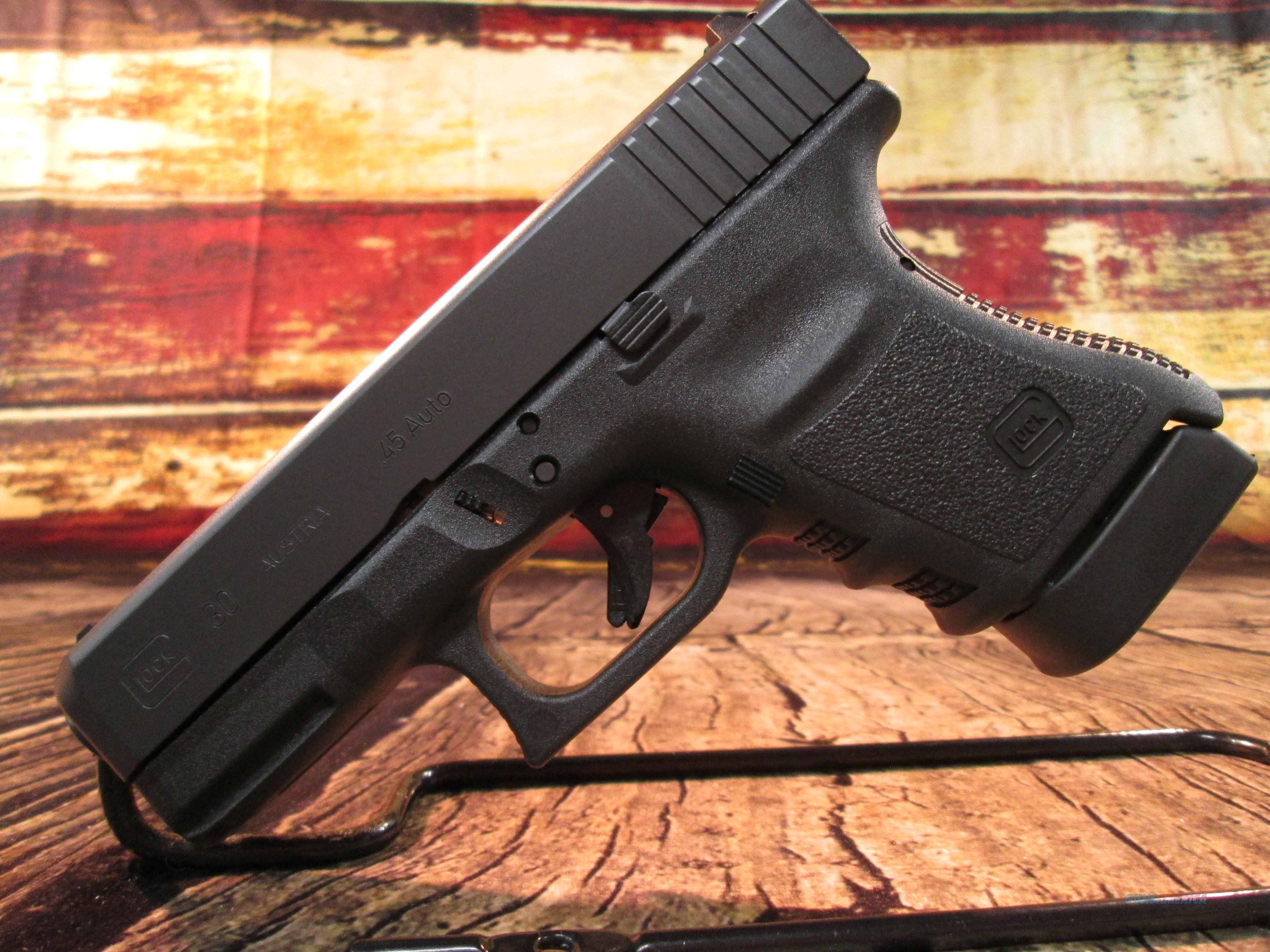 GLOCK MODEL 30SF (SLIM FRAME) 45ACP NEW (PF3050201)  Guns > Pistols > Glock Pistols > 29/30/36