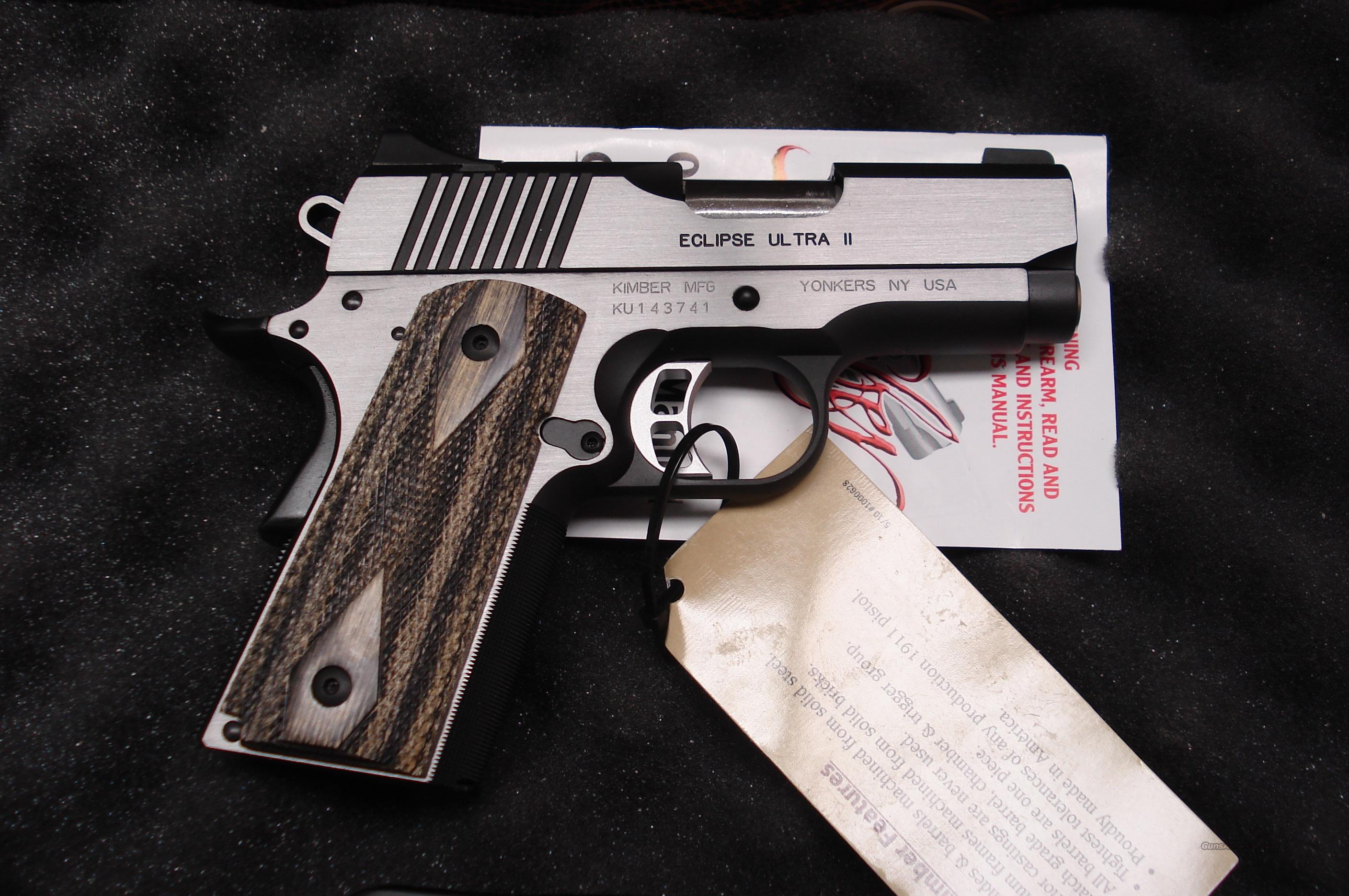 KIMBER ECLIPSE ULTRA II 45ACP NEW  Guns > Pistols > Kimber of America Pistols