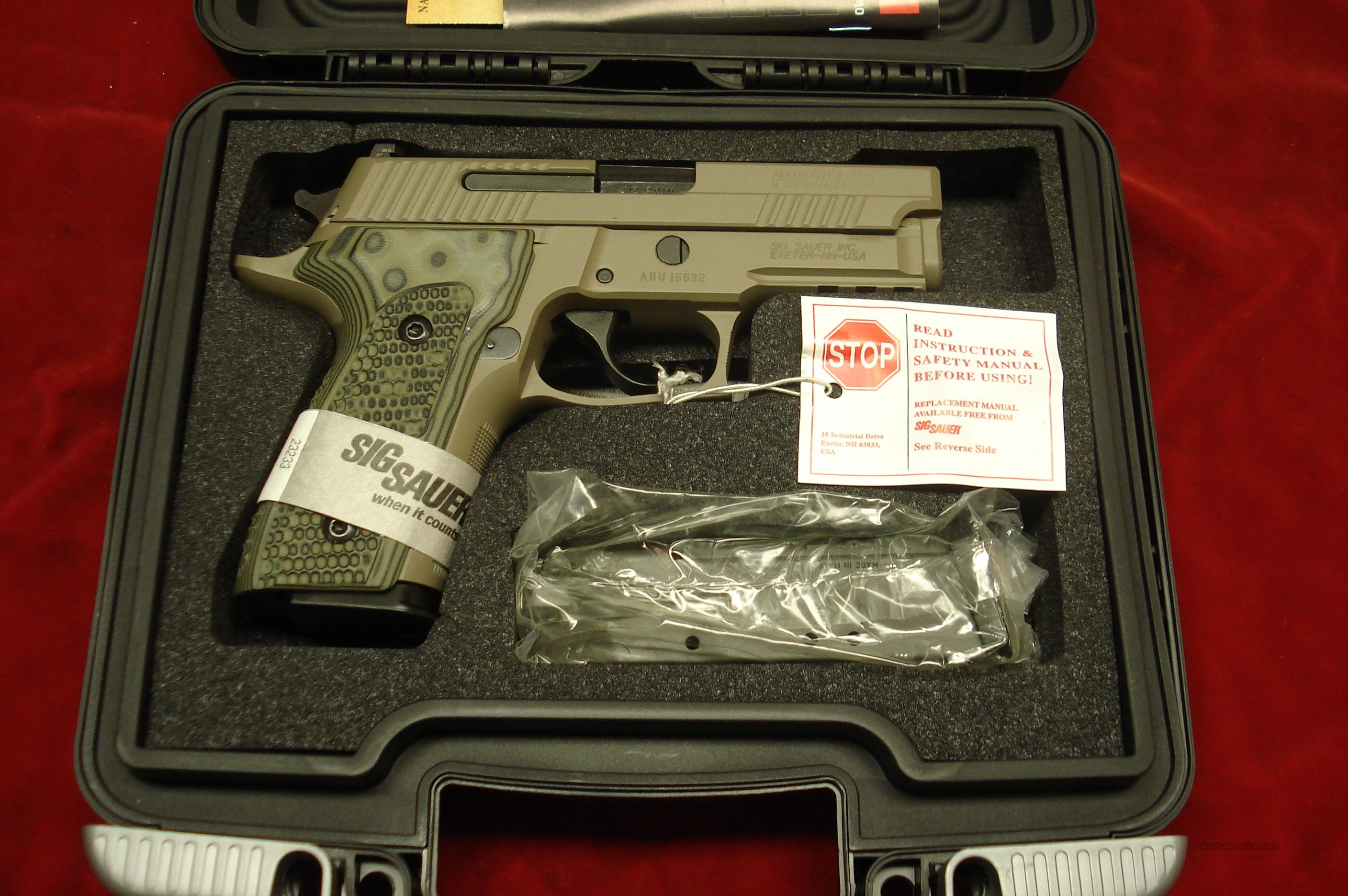 SIG SAUER P229 SCORPION ELITE 40CAL. FLAT DARK EARTH WITH NIGHT SIGHTS NEW   Guns > Pistols > Sig - Sauer/Sigarms Pistols > P229