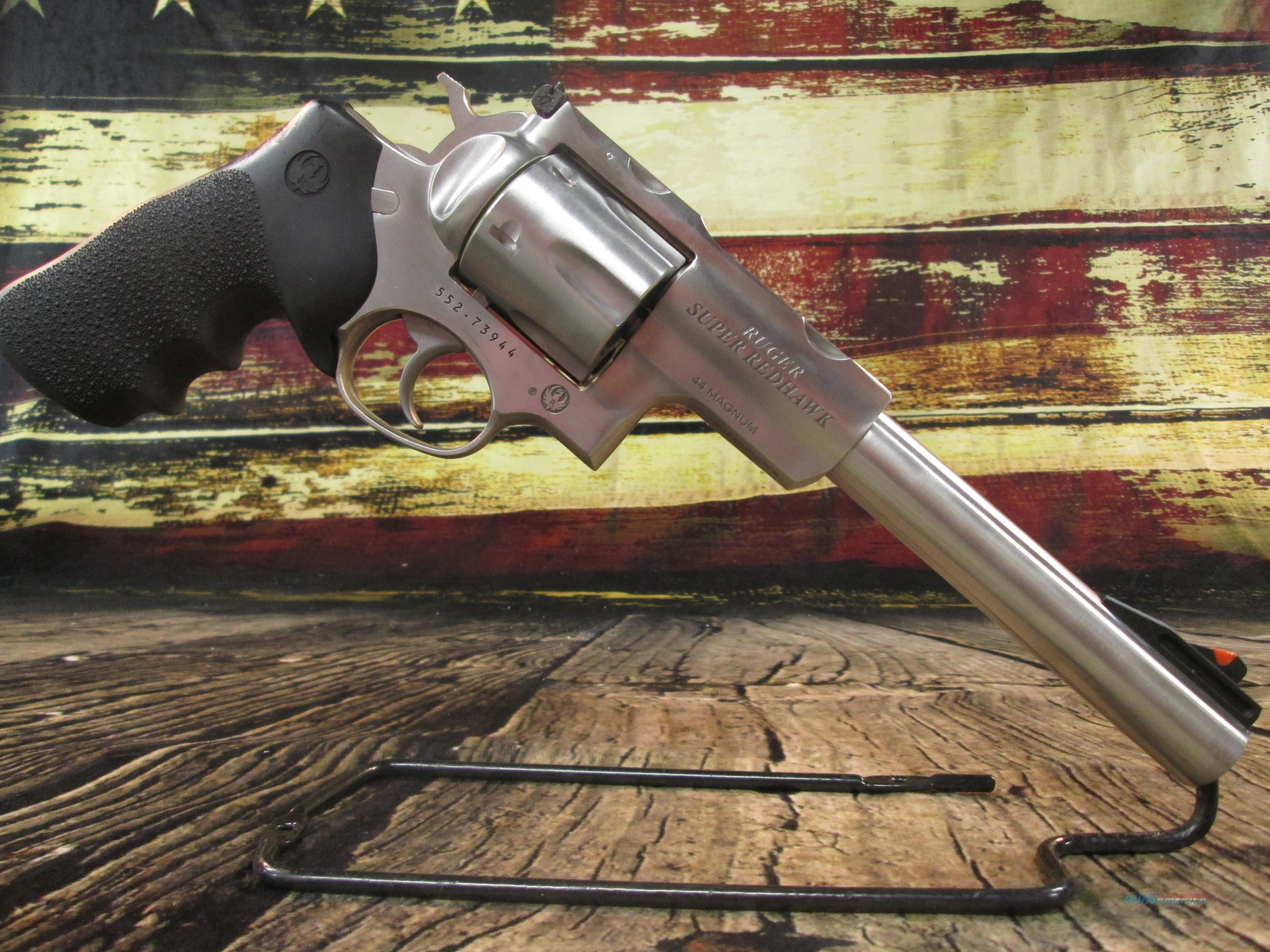 """Ruger Super Redhawk Hunter 7.5"""" Stainless 44 Mag New (05501)  Guns > Pistols > Ruger Double Action Revolver > Redhawk Type"""