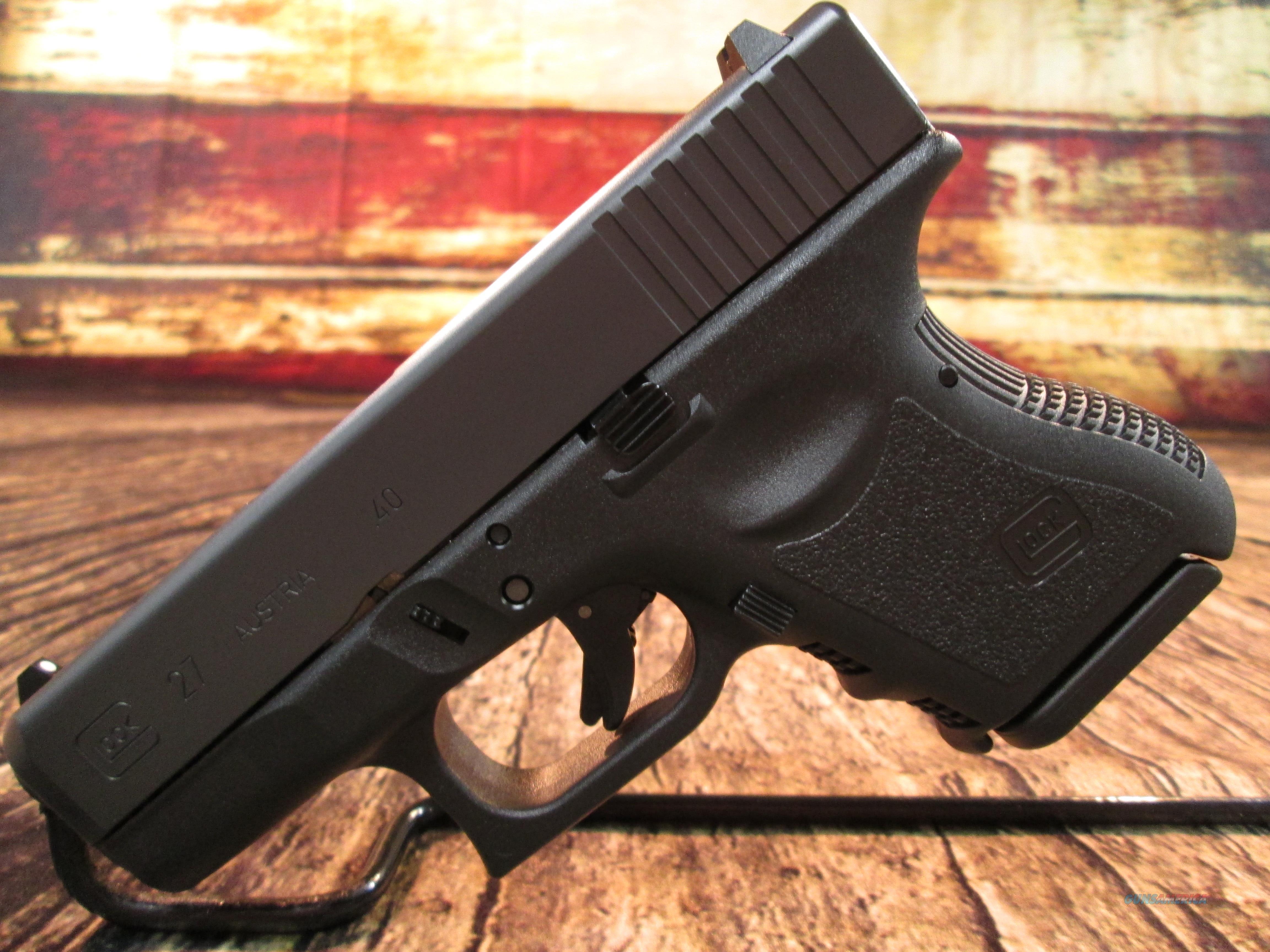 GLOCK MODEL 27 GEN 3 40 S&W NEW (PI2750201)  Guns > Pistols > Glock Pistols > 26/27