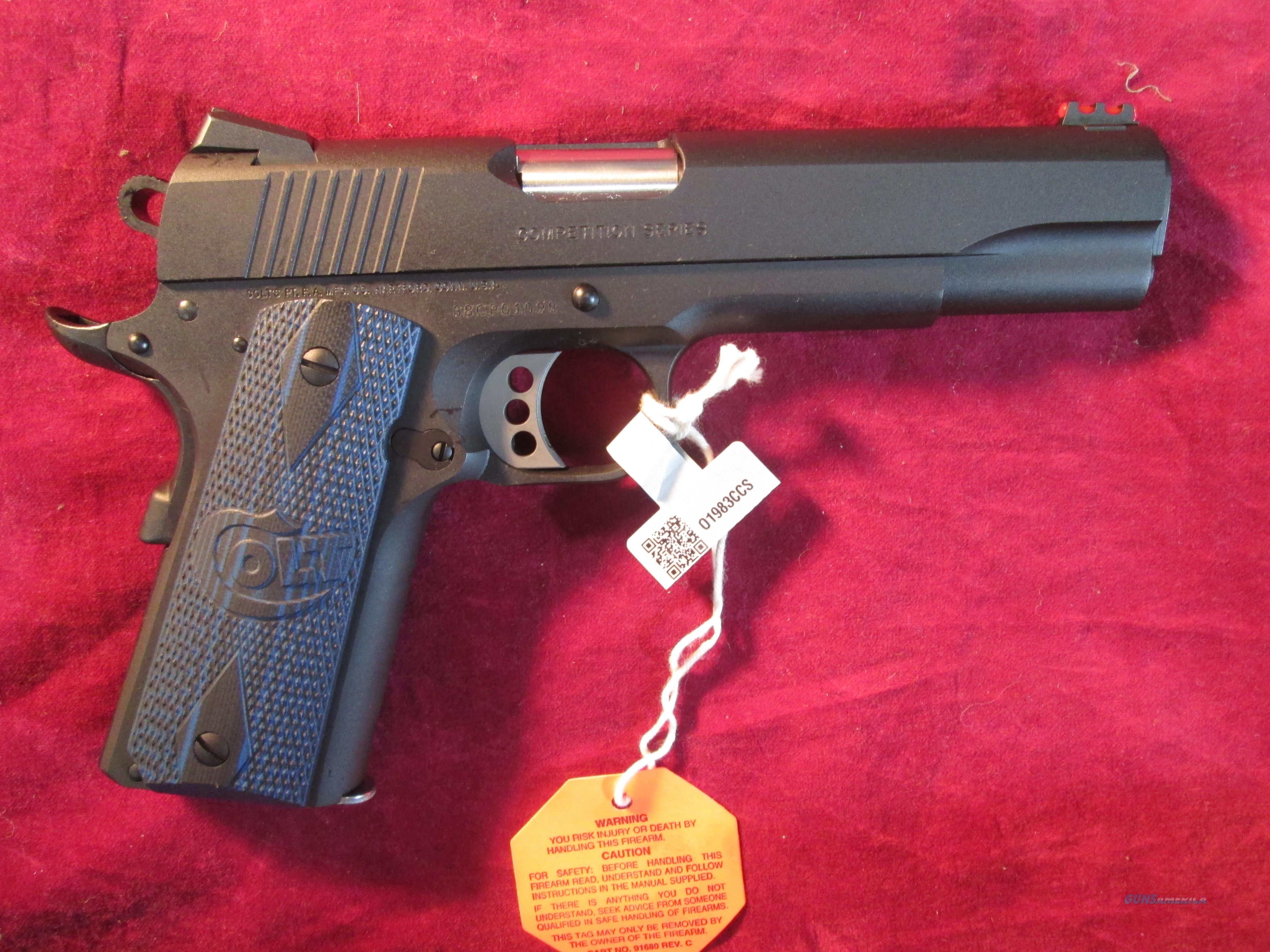 COLT COMPETITION PISTOL 38 SUPER GOVERNMENT MODEL NEW (01983CCS)  Guns > Pistols > Colt Automatic Pistols (1911 & Var)