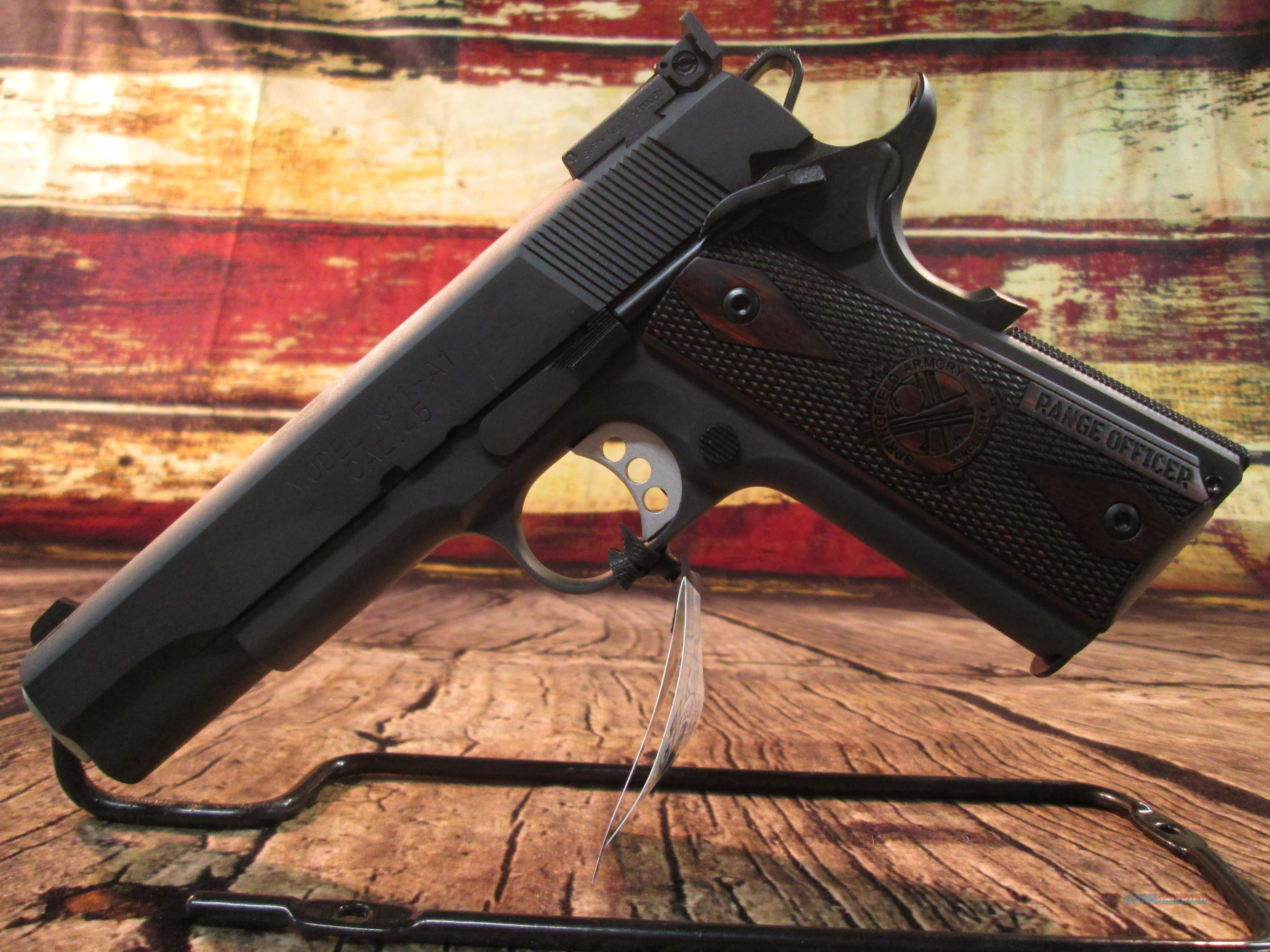 SPRINGFIELD ARMORY RANGE OFFICER PARKERIZED 1911 A1 LOADED (PI9128L) NEW   Guns > Pistols > Springfield Armory Pistols > 1911 Type
