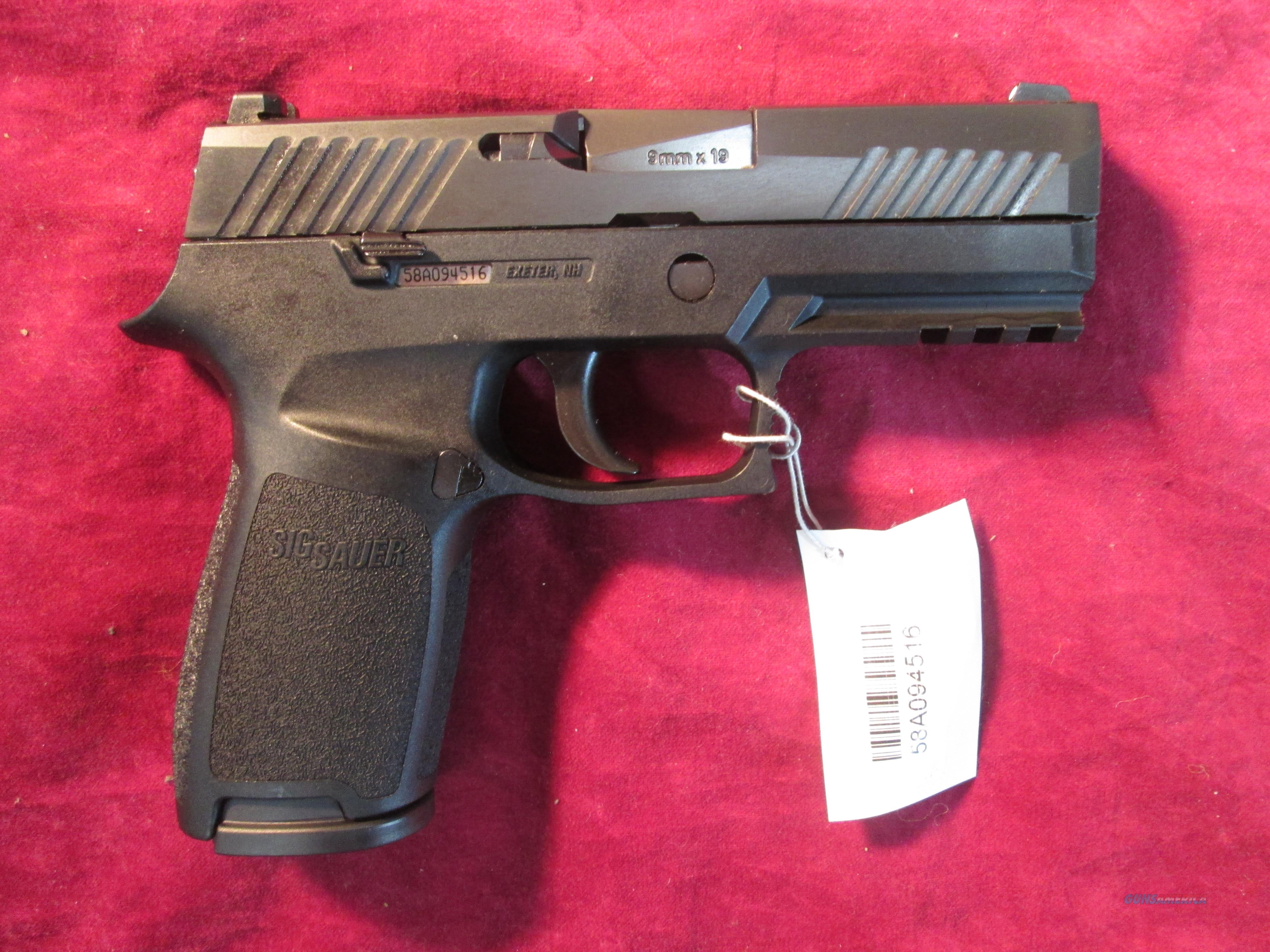 SIG SAUER P320 CARRY 9MM STRIKER FIRED PISTOL CONTRAST SIGHTS NEW (320CA-9-B)  Guns > Pistols > Sig - Sauer/Sigarms Pistols > P320