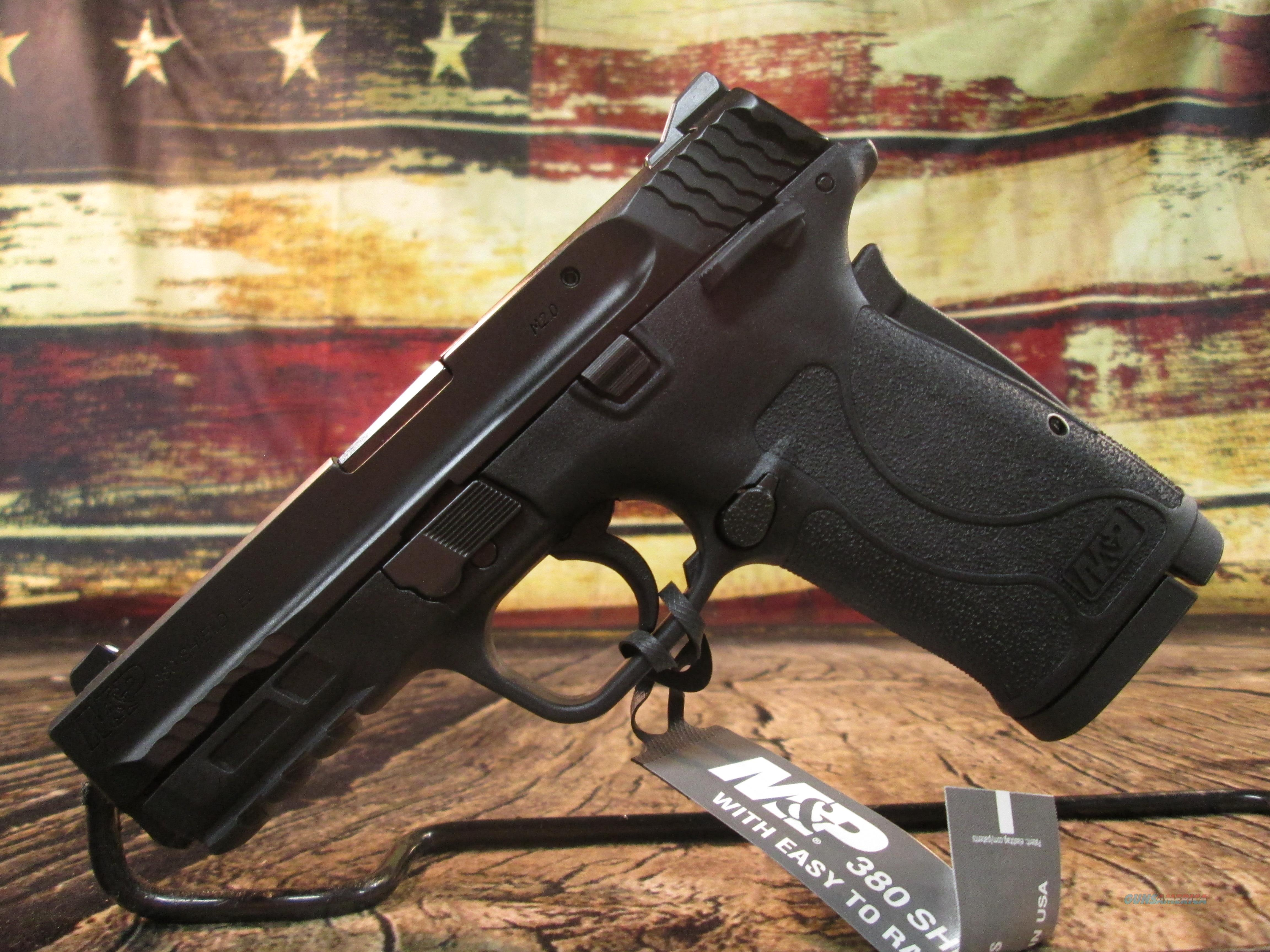 S&W M&P 380 SHIELD NEW WITH/MANUAL THUMB SAFETY (11663)   Guns > Pistols > Smith & Wesson Pistols - Autos > Polymer Frame