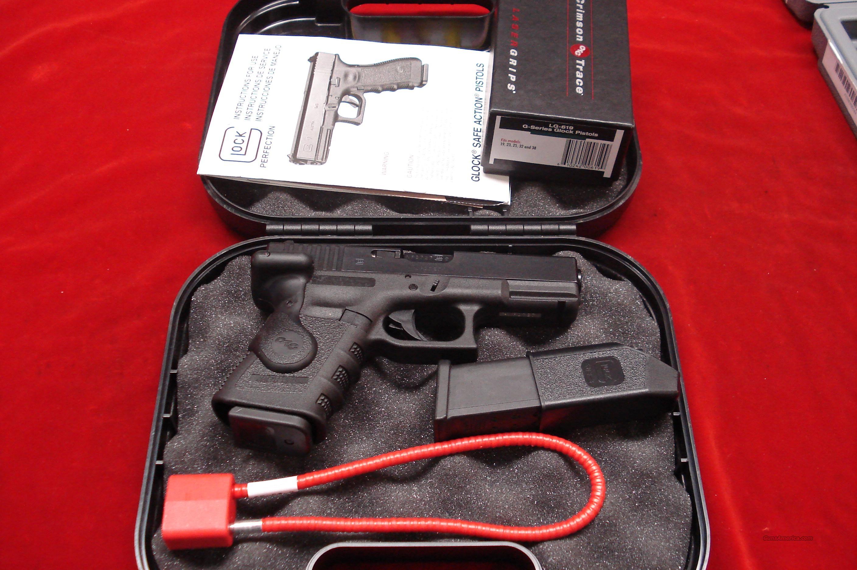 GLOCK MODEL 23 GENIII 40CAL. W/CRIMSON TRACE LASER GRIPS LNIB  Guns > Pistols > Glock Pistols > 23