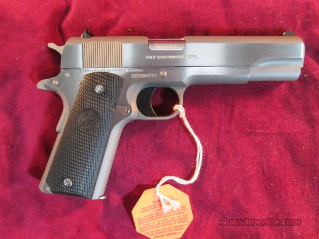 COLT GOVERNMENT MODEL  BRUSHED STAINLESS  38 SUPER NEW ***02091***  Guns > Pistols > Colt Automatic Pistols (1911 & Var)