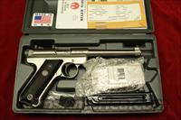 "RUGER MKIII 6"" STAINLESS NEW (KMKIII6)  Guns > Pistols > Ruger Semi-Auto Pistols > Mark I & II Family"