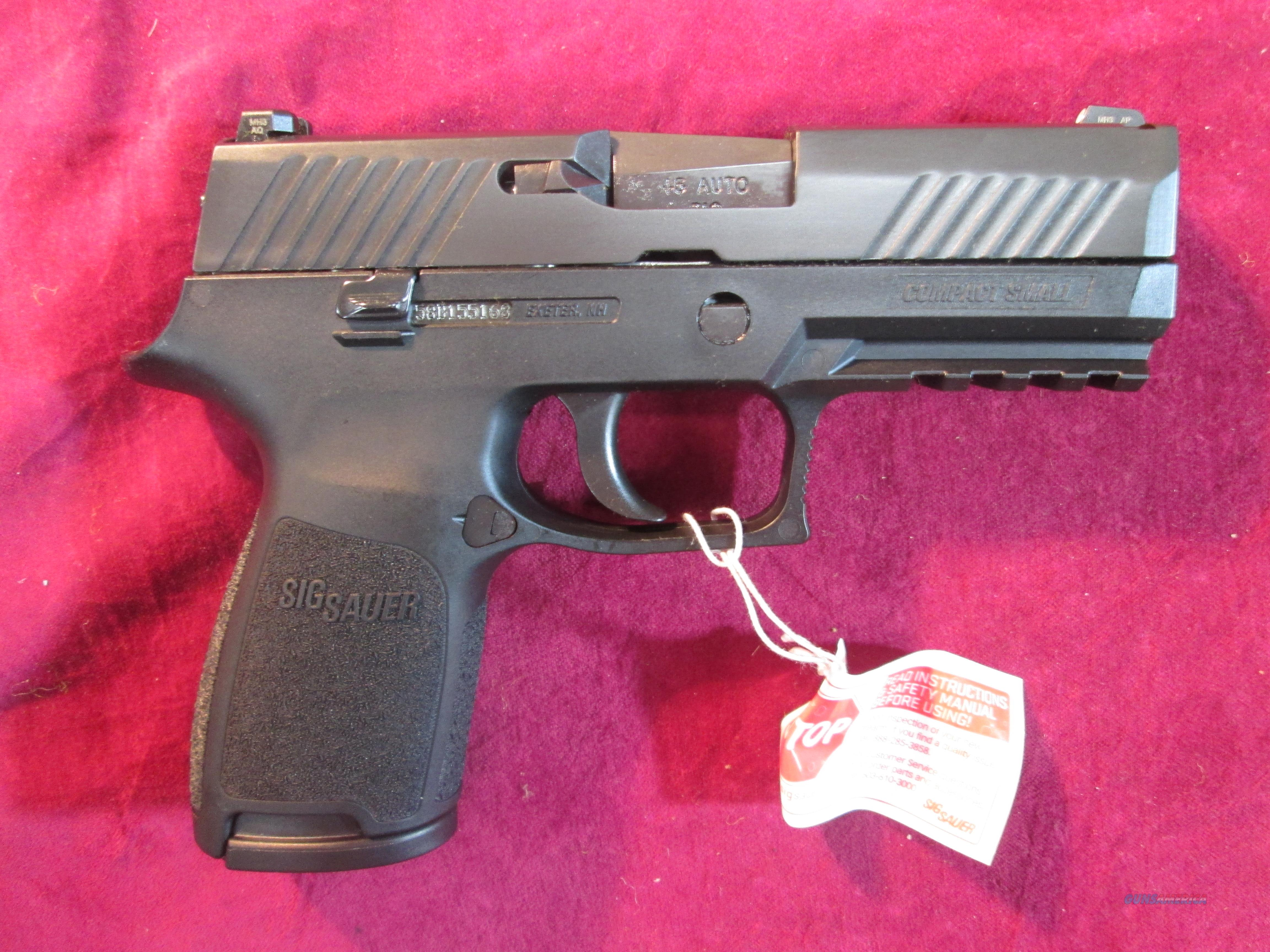SIG SAUER P320 COMPACT 45ACP W/ NIGHT SIGHTS NEW (320C-45-BSS)  Guns > Pistols > Sig - Sauer/Sigarms Pistols > P320