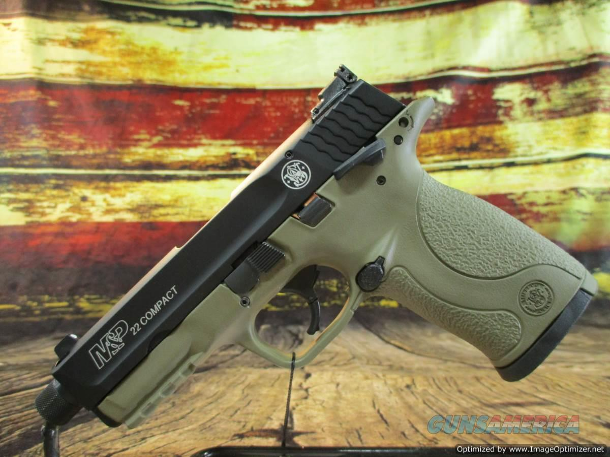 """Smith & Wesson 22 LR  M&P 22 Compact FDE 3.6"""" Threaded New (10242)  Guns > Pistols > Smith & Wesson Pistols - Autos > .22 Autos"""